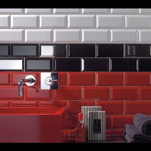 troc de troc carrelage noir brillant 15 x 7,5 cm - 7 unités - style métro image 2
