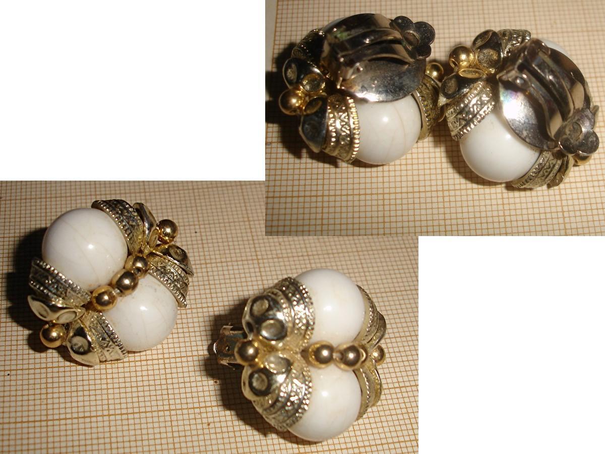 troc de troc rés. à 1977coco le 14/01/2021 >bo perles blanches, pince métal doré image 0