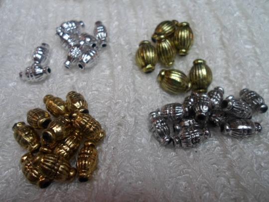 troc de troc * lot de perles olives argentées et dorées image 0