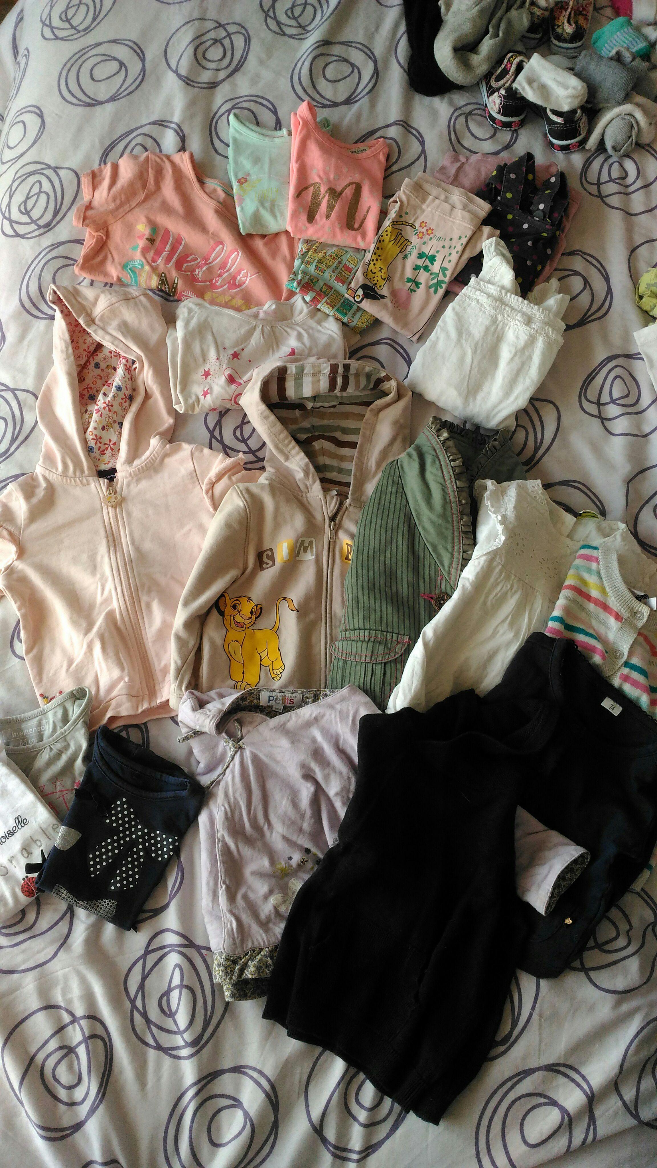 troc de troc troc lot vêtements bb filles 12/18 mois image 1