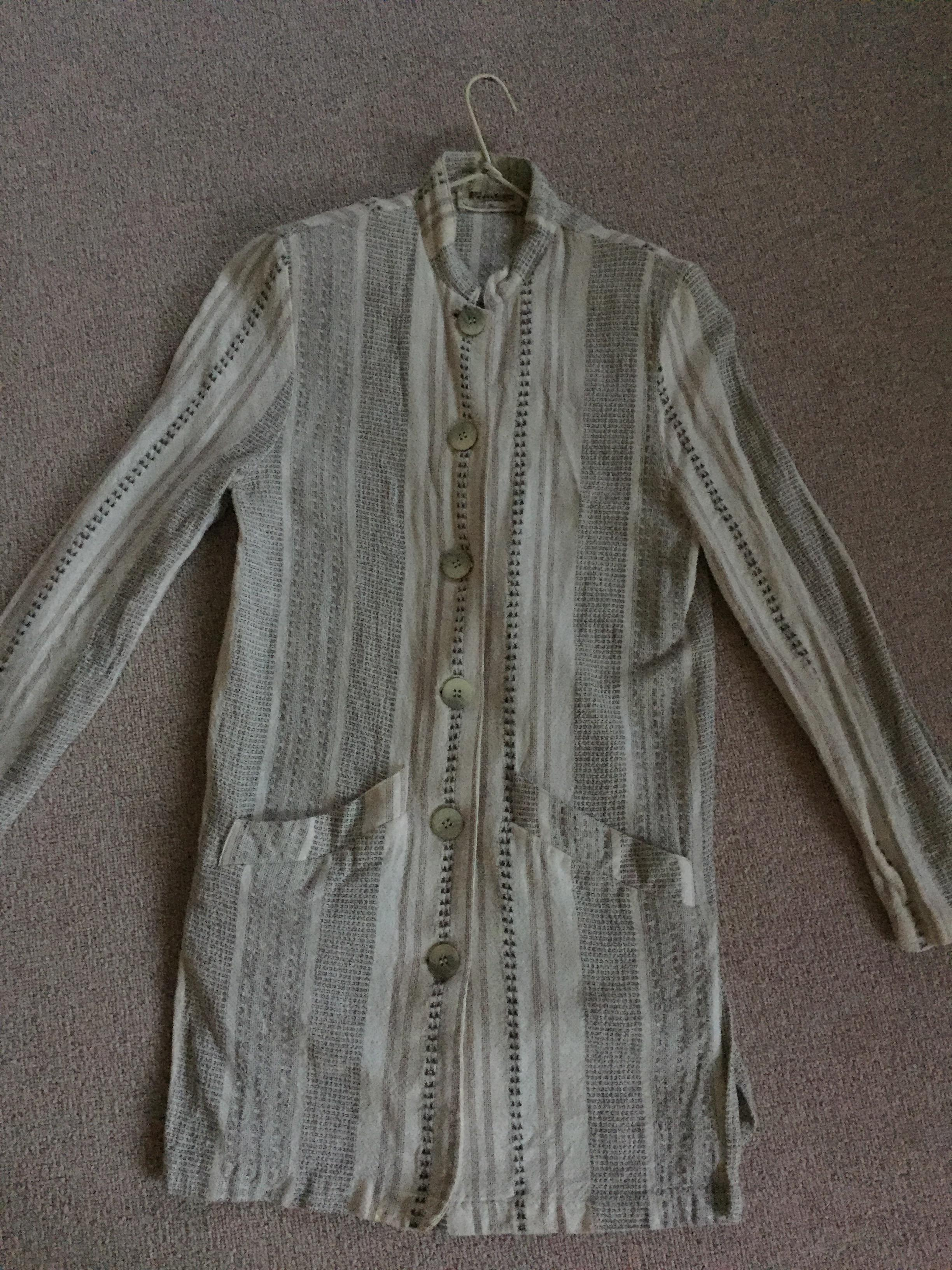 troc de troc veste longue coton imprimé type lin - taille s image 0