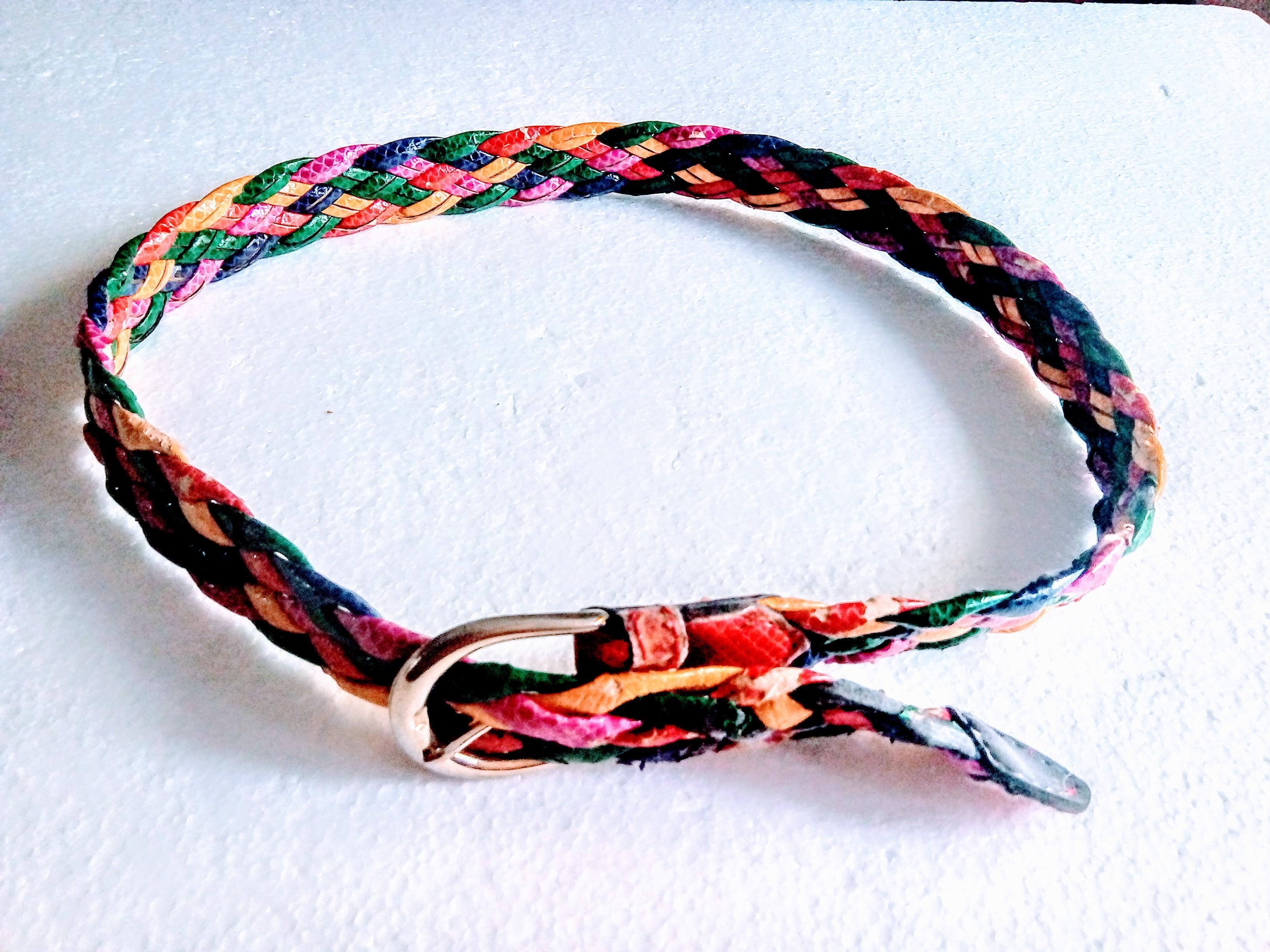 troc de troc ceinture tressÉe multicolore image 0