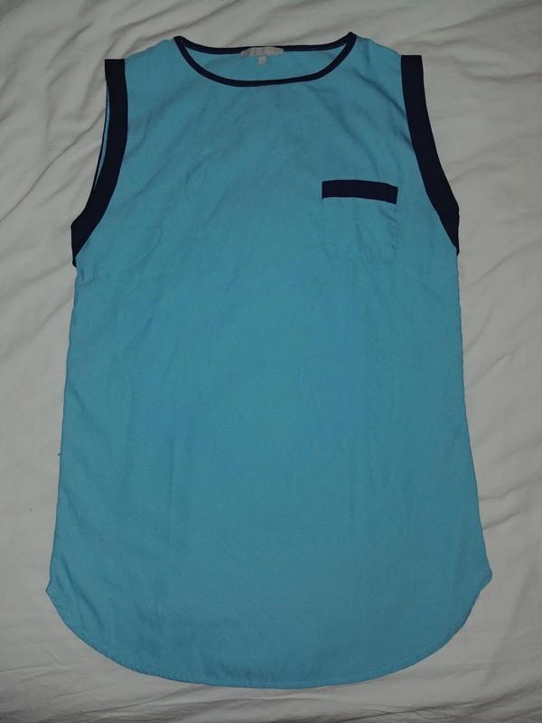 troc de troc blouse / tunique etam bleu ciel taille 36 image 0