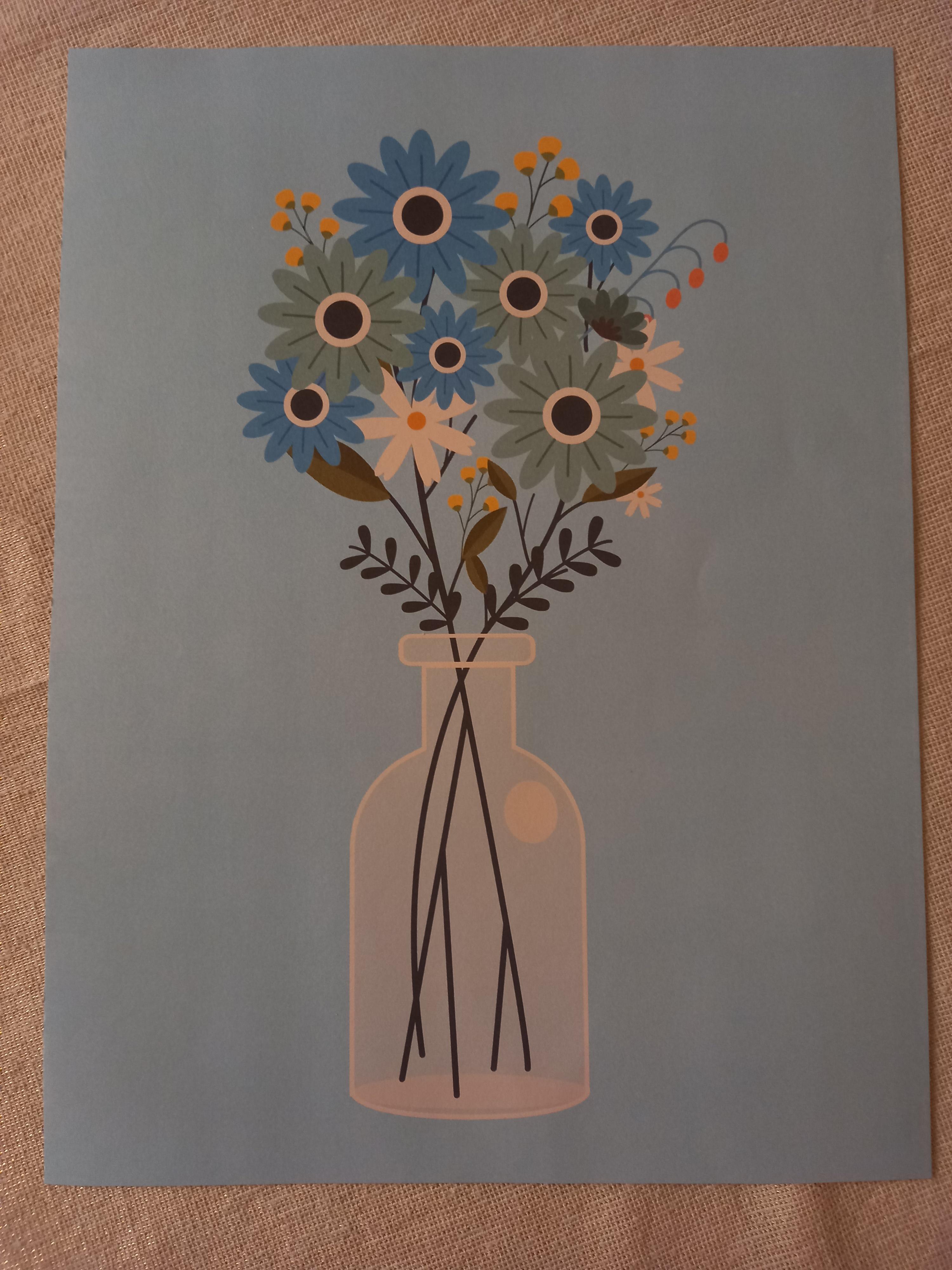 """troc de troc affiche """"bouquet de fleurs"""". image 0"""