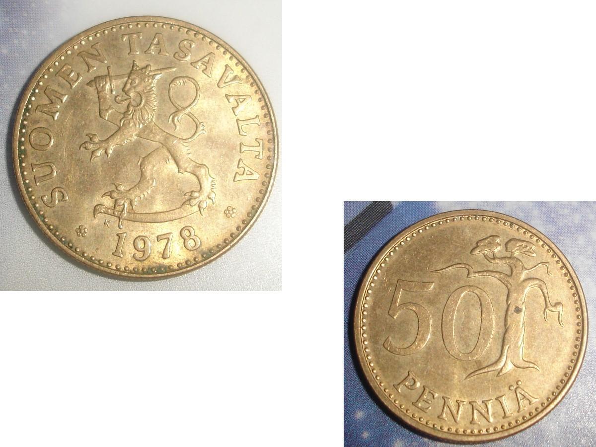 troc de troc pièce monnaie finlande suomen tasavalta 50 penniÄ de 1978 image 0