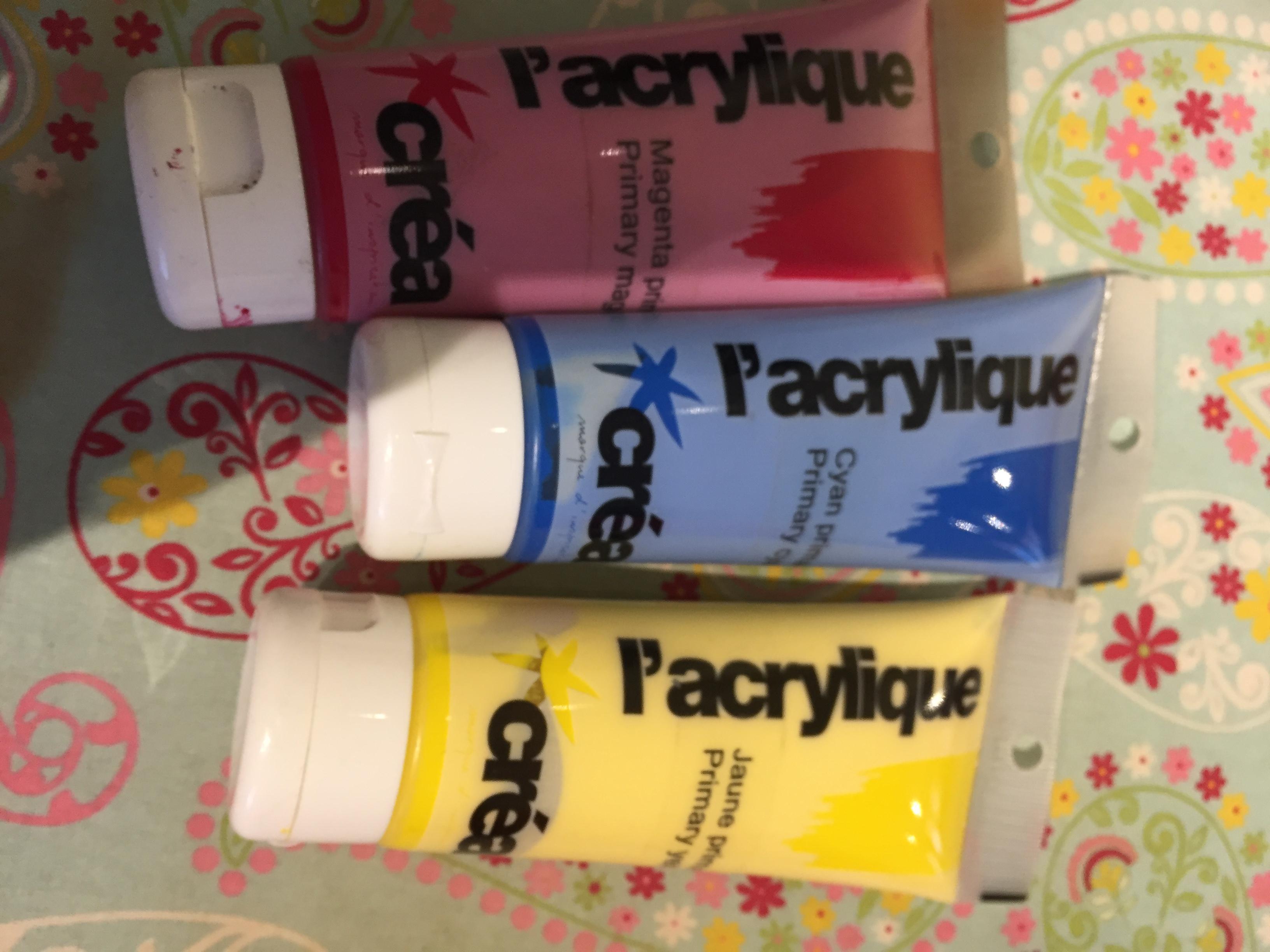 troc de troc 3 tubes peiture acrylique image 0