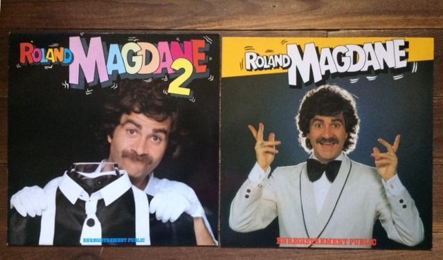 troc de troc lot 2 lp vinyles 33t - roland magdane 1&2 - originaux 1980/1981 image 0