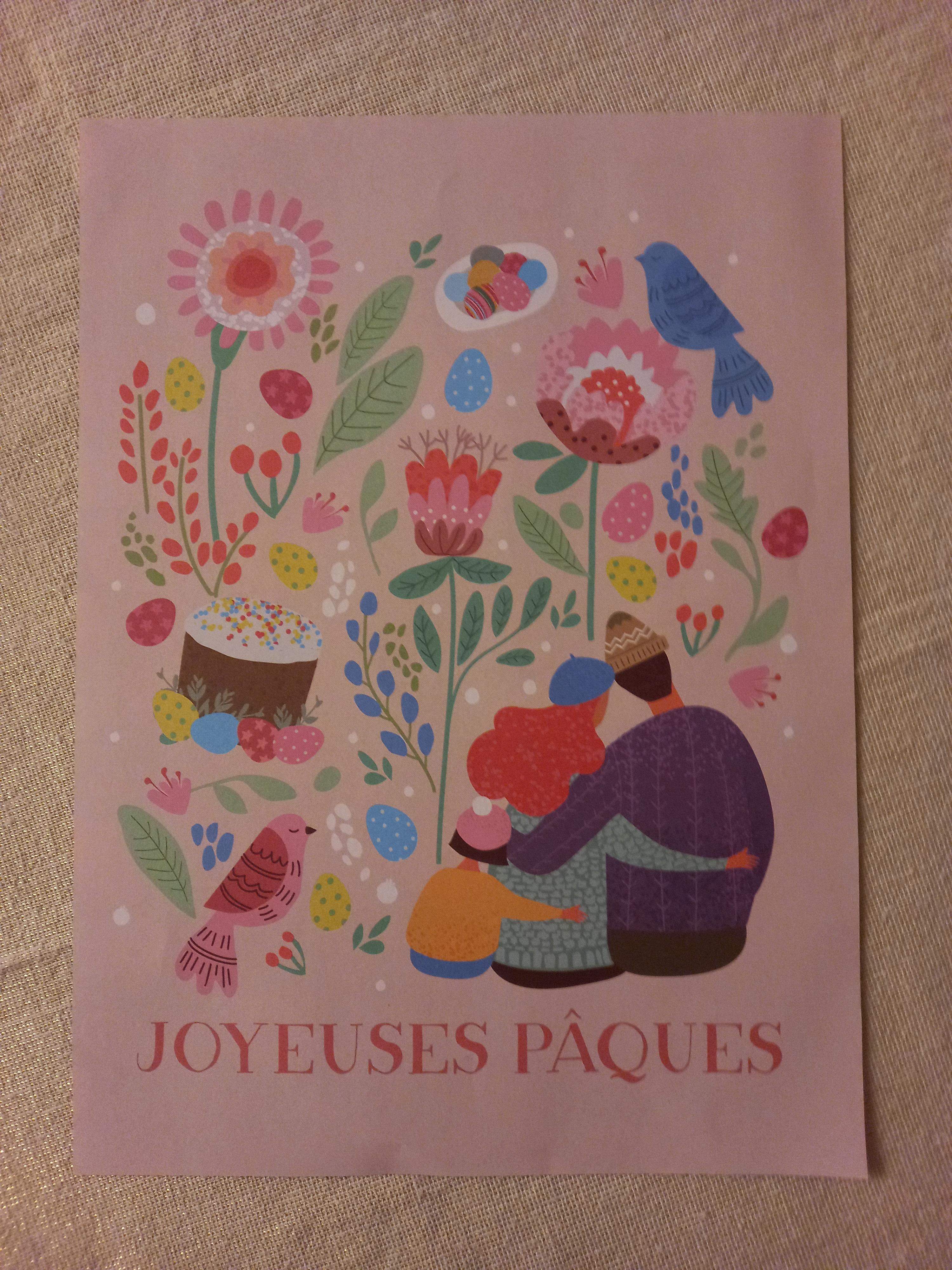 """troc de troc affiche """"joyeuses pâques"""". image 0"""