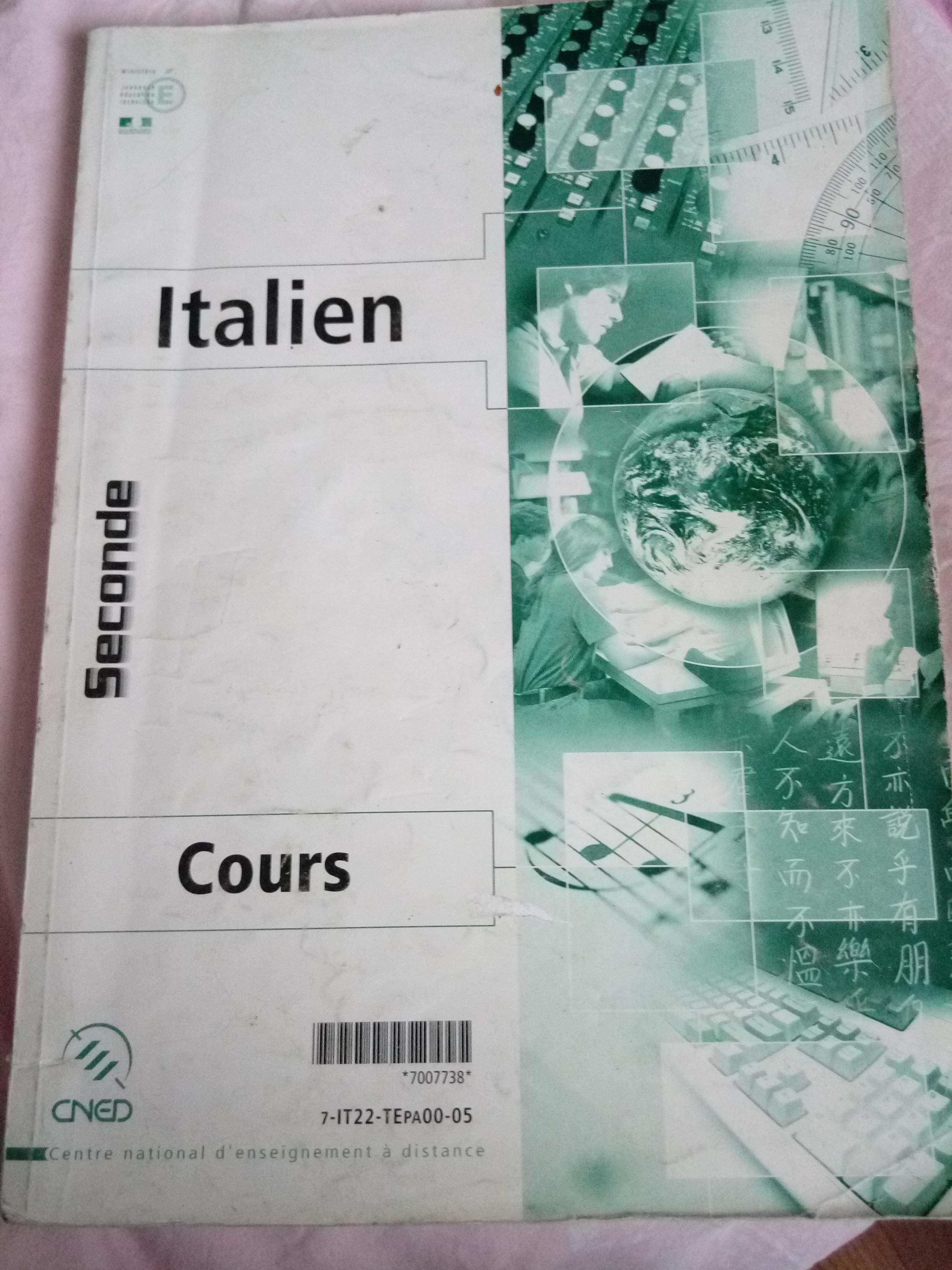 troc de troc cours italien cned niveau seconde image 0