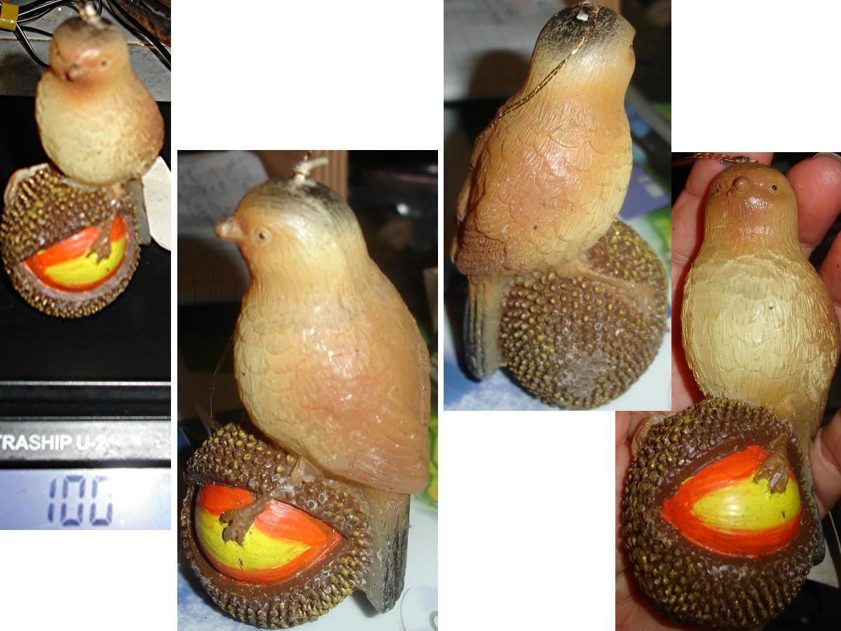 """troc de troc bougie de collection """"oiseau sur fruit exotique"""" image 0"""