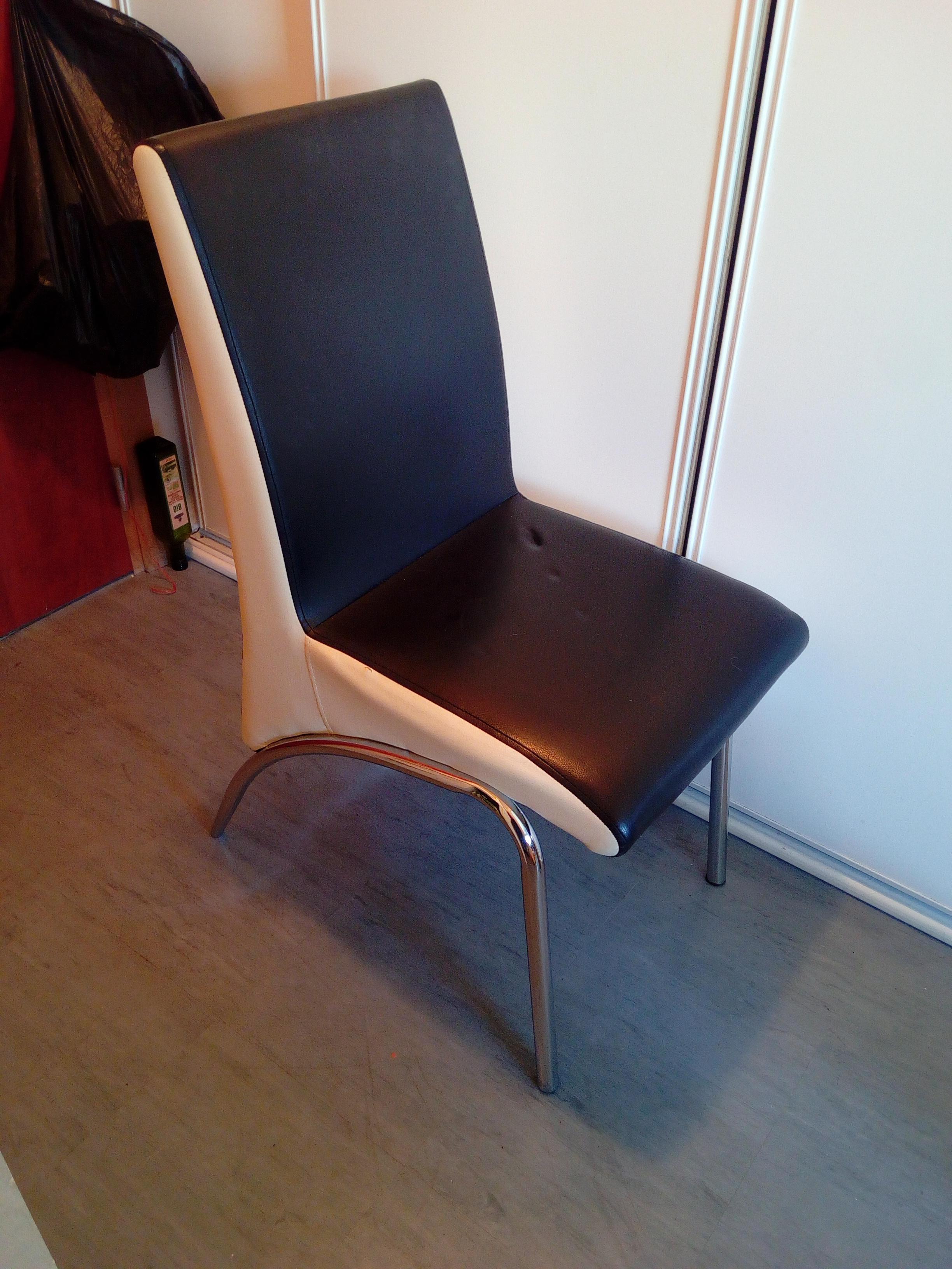 troc de troc chaise simili cuir image 0