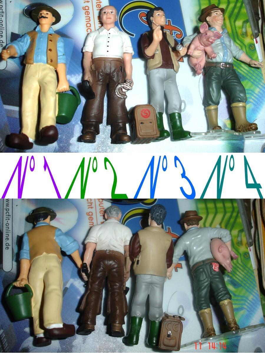 troc de troc figurine de qualité n° 4 : schleich / fermier + petit cochon 9 cm image 1