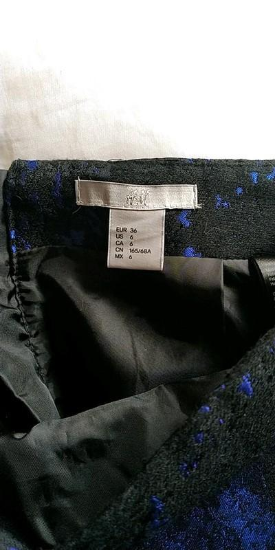 troc de troc jupe noir et bleu taille 36 marque h&m image 2