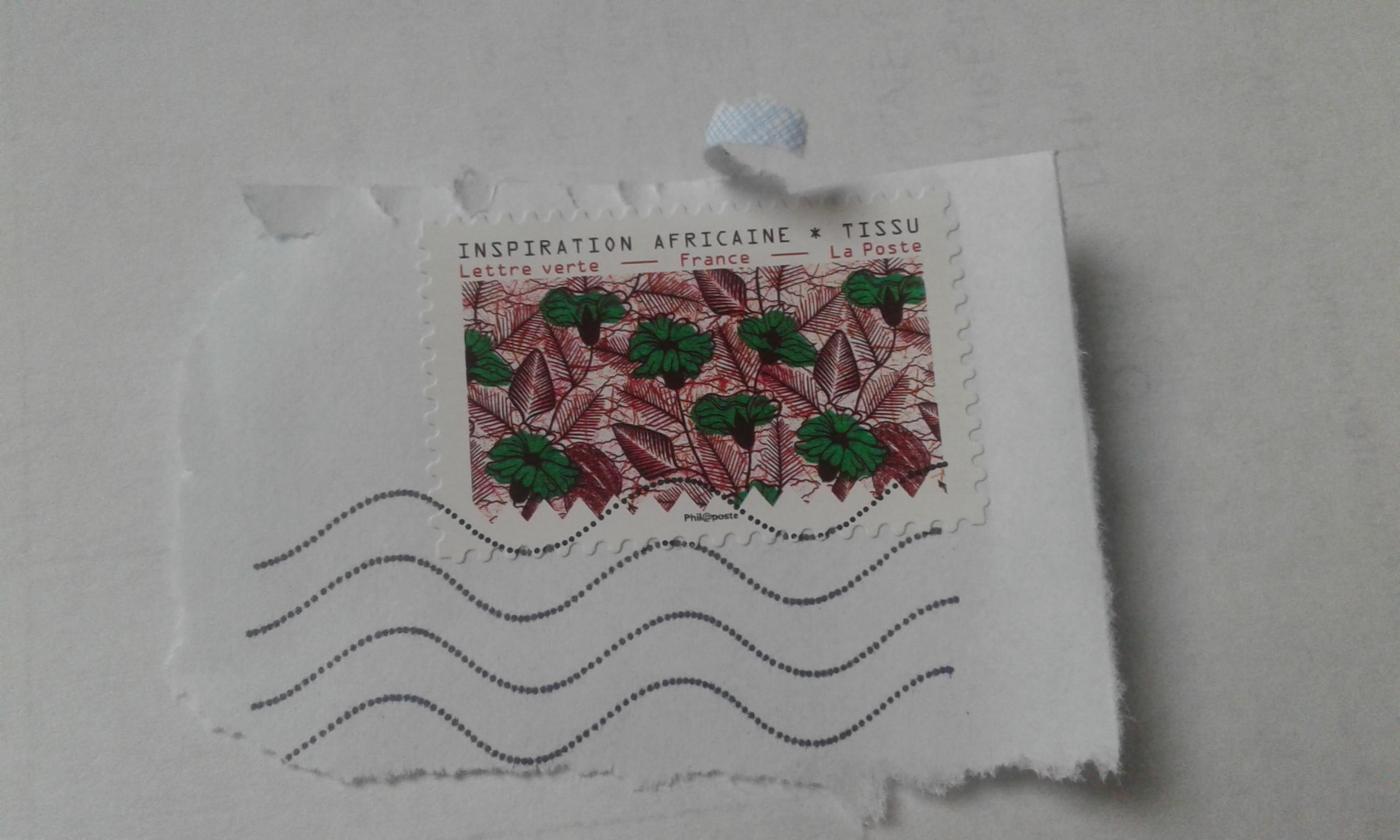 troc de troc timbre tissu africain oblitéré image 0