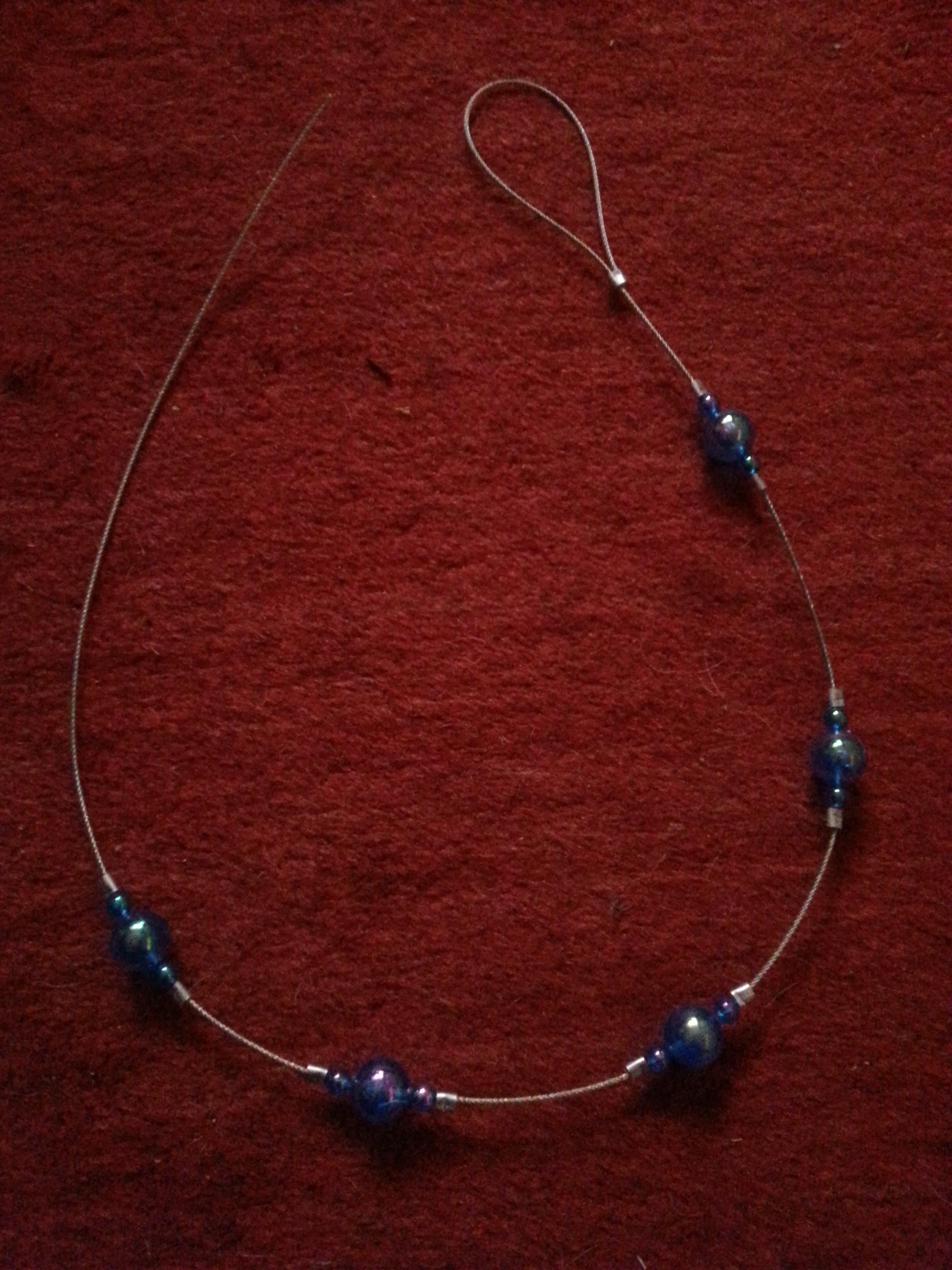 troc de troc (réservé) embrasse de rideau artisanale bleue image 0