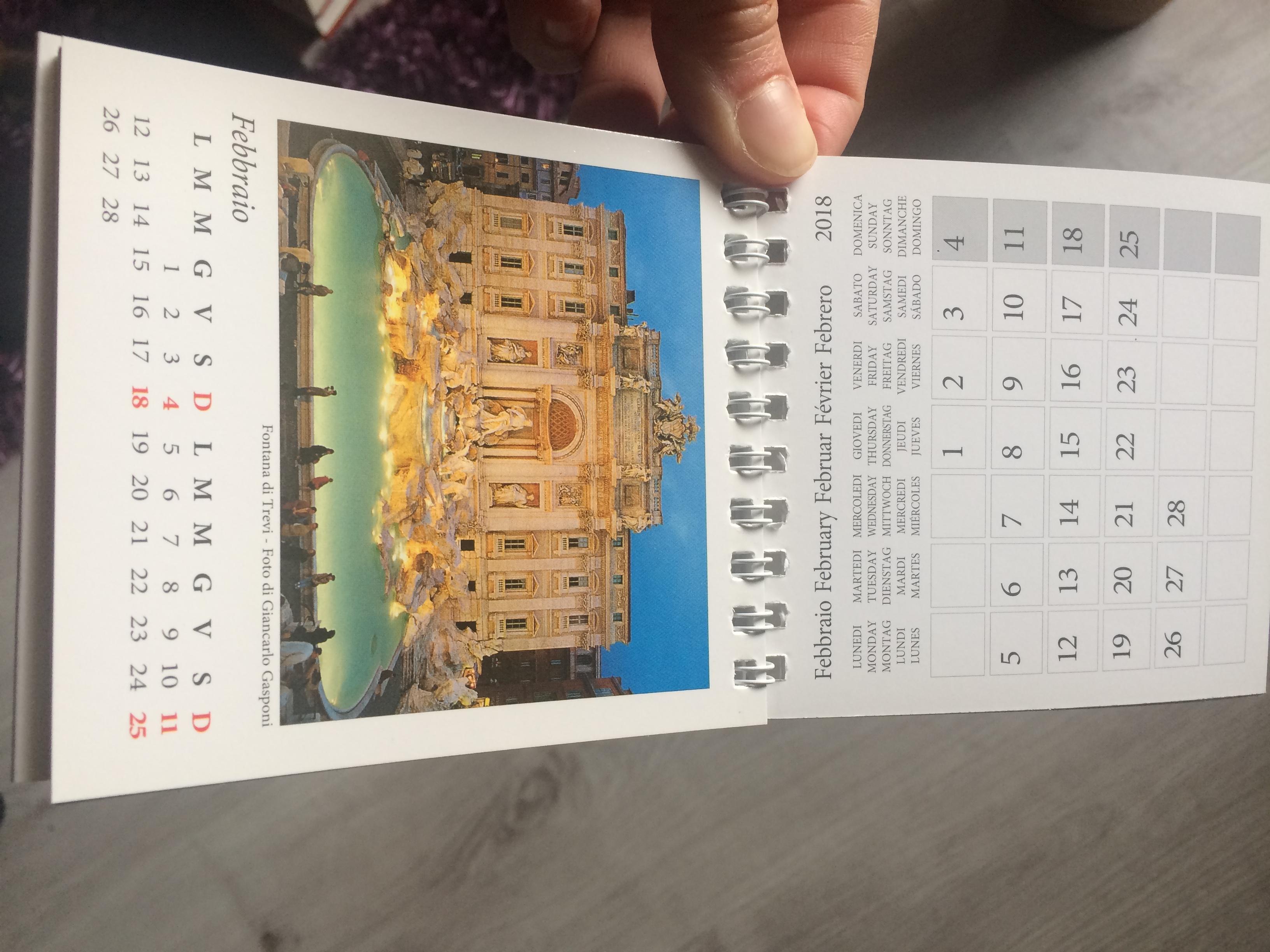 troc de troc fan de rome calendrier 2018 image 1