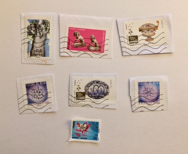 troc de troc lot 7 timbres français oblitérés image 0