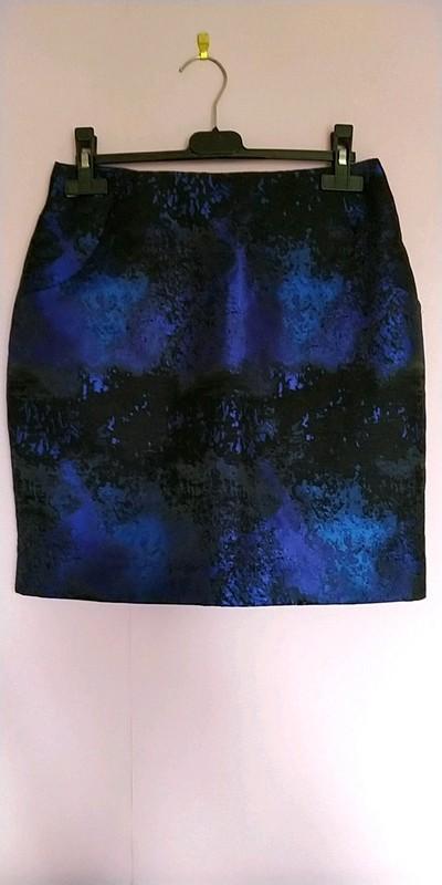 troc de troc jupe noir et bleu taille 36 marque h&m image 0