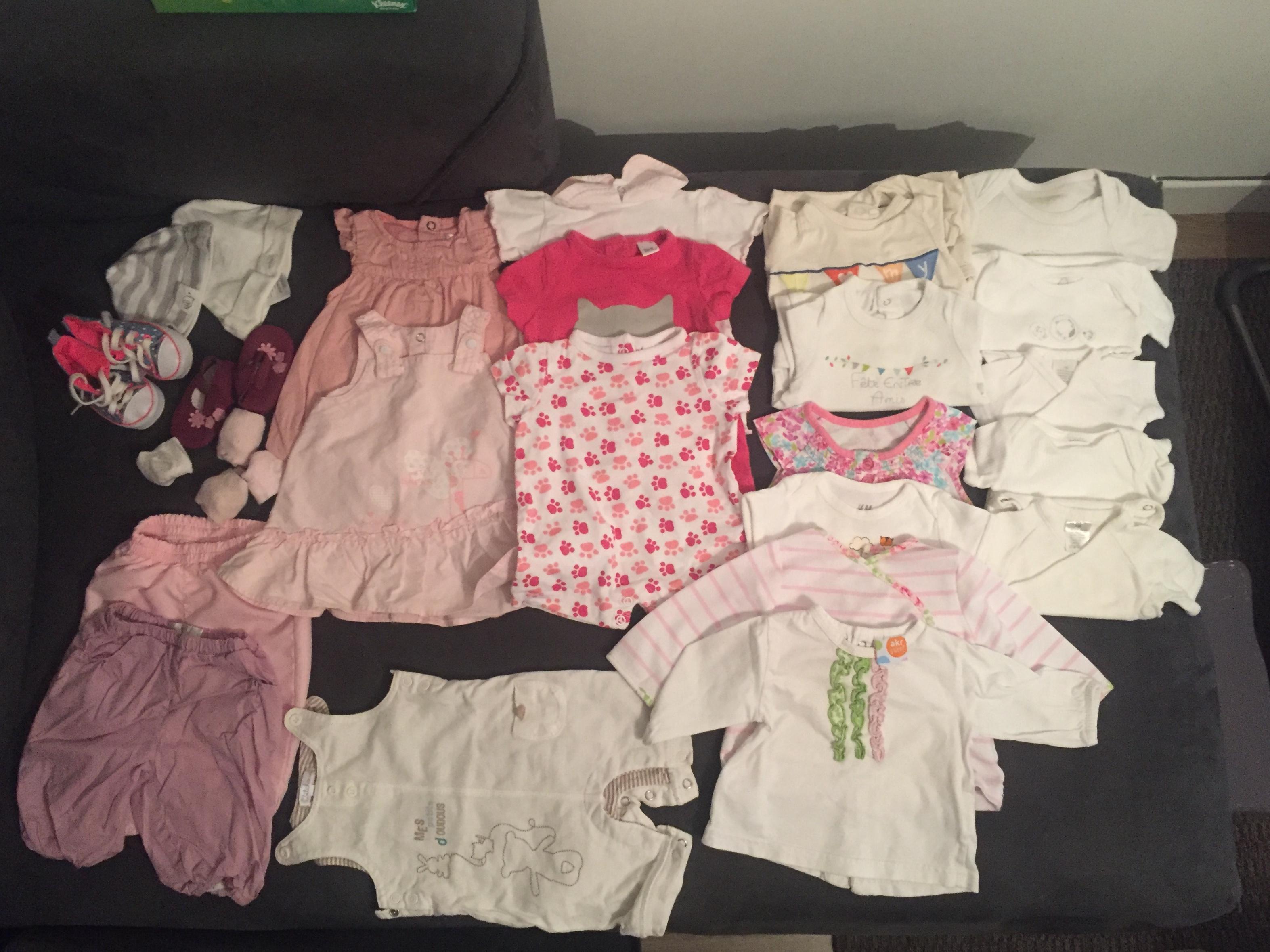 troc de troc lot de vêtements bébé 3 mois saison été image 0
