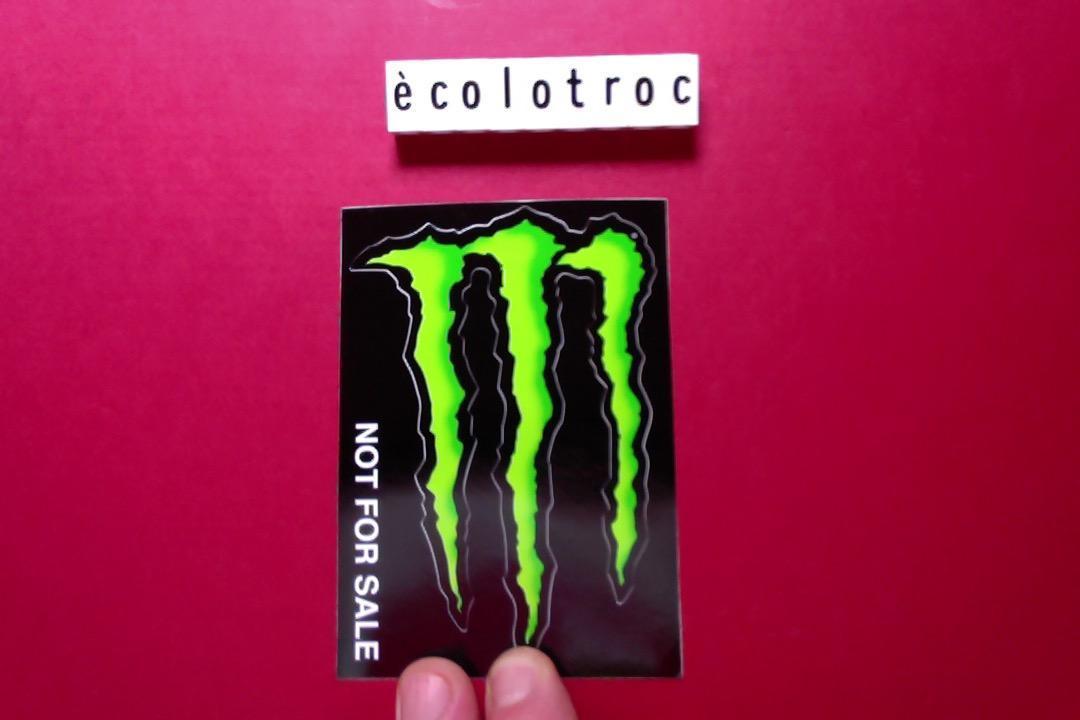 troc de troc port compris - autocollant boisson énergisante monster - neuf image 0