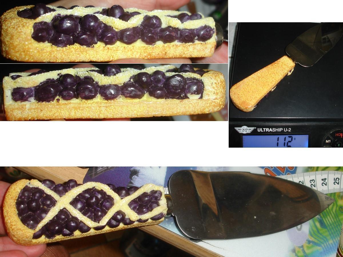 """troc de troc pelle à gÂteaux manche 3 d """"tarte au cassis"""" / stainless steel image 0"""