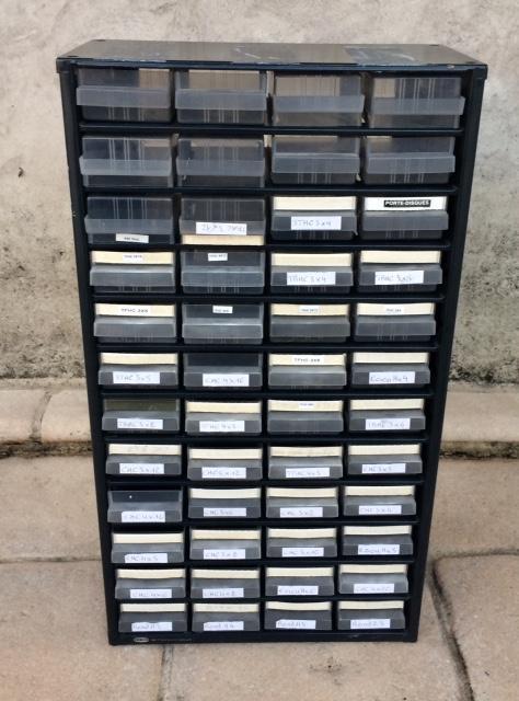 troc de troc boitiers rangement - caisson métallique 48 tiroirs image 0