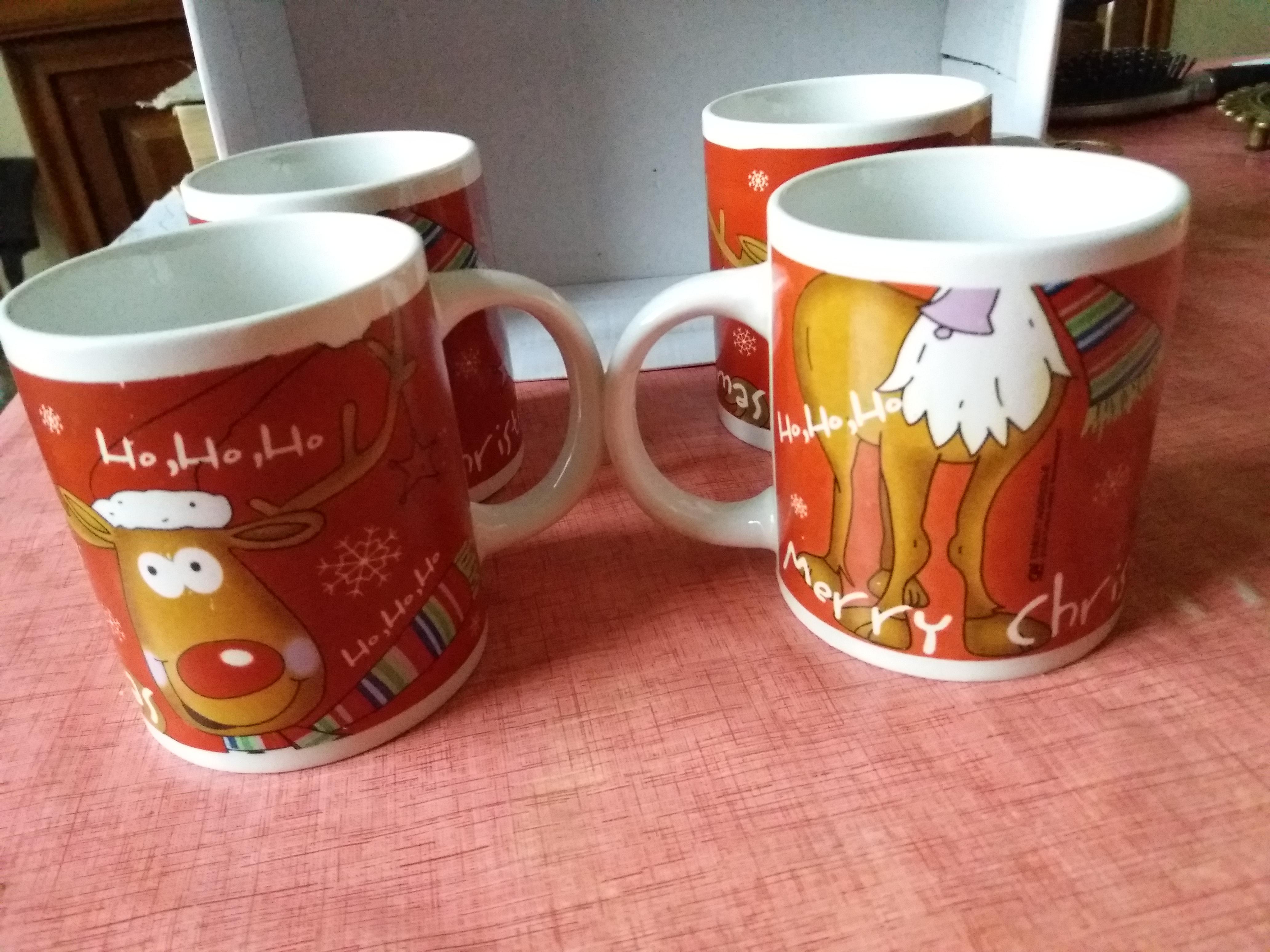troc de troc lot de 4 mugs merry christmas image 0
