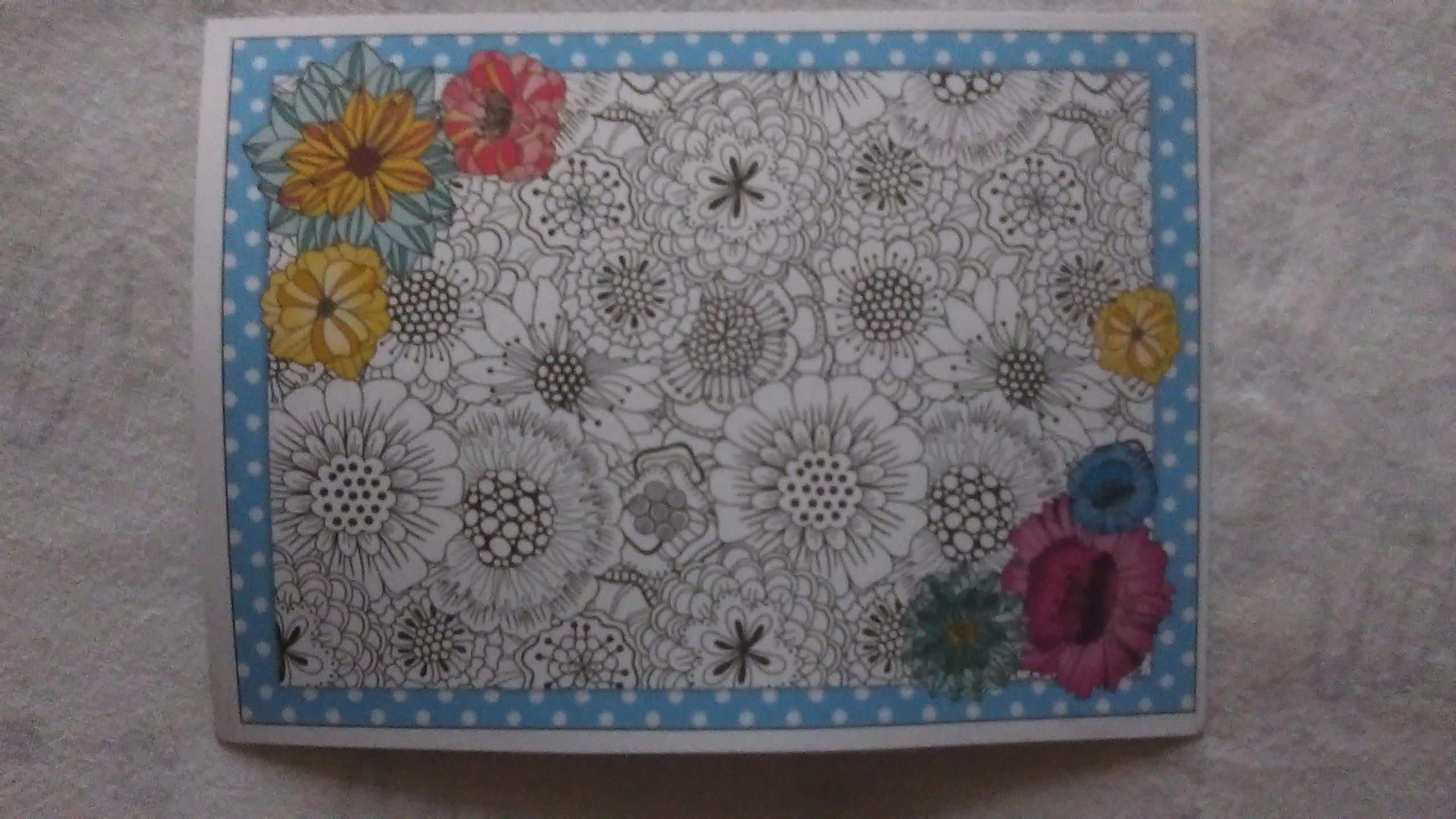 "troc de troc carte ""fleurs"". reservee. image 0"