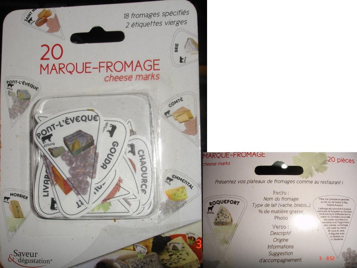 troc de troc paquet Étiquettes 20 sortes de fromage : brie morbier bleu... image 0