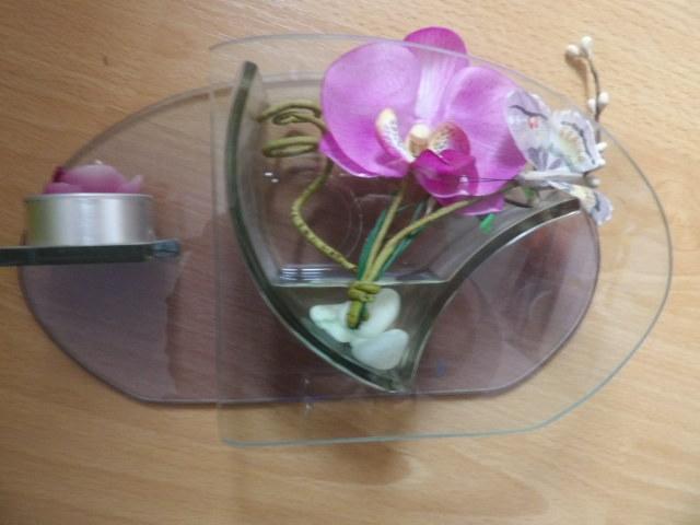troc de troc bibelot avec bougie et fleur tissu très bon état image 0