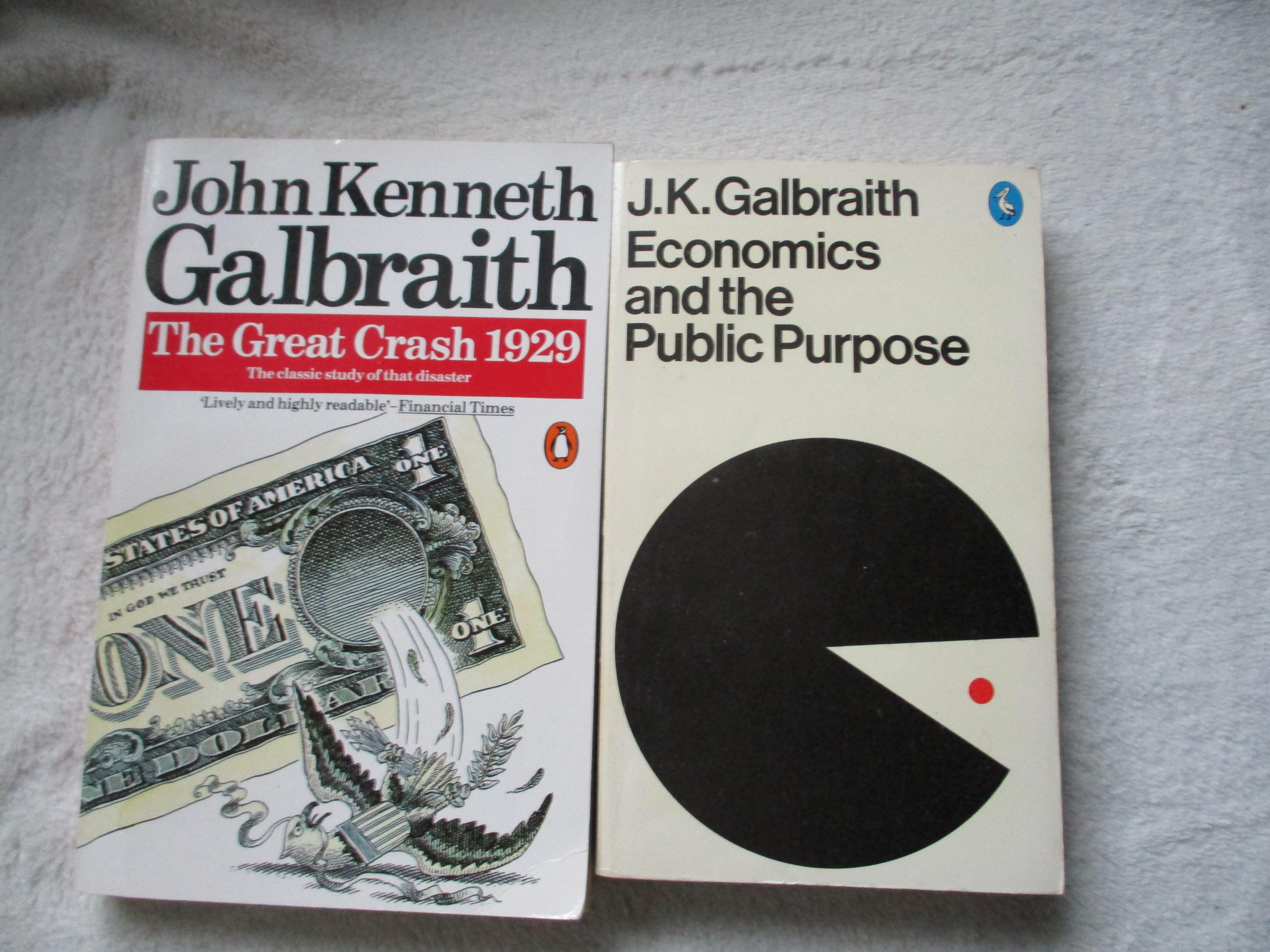 troc de troc 2 livres en anglais de galbraith l'économiste image 0