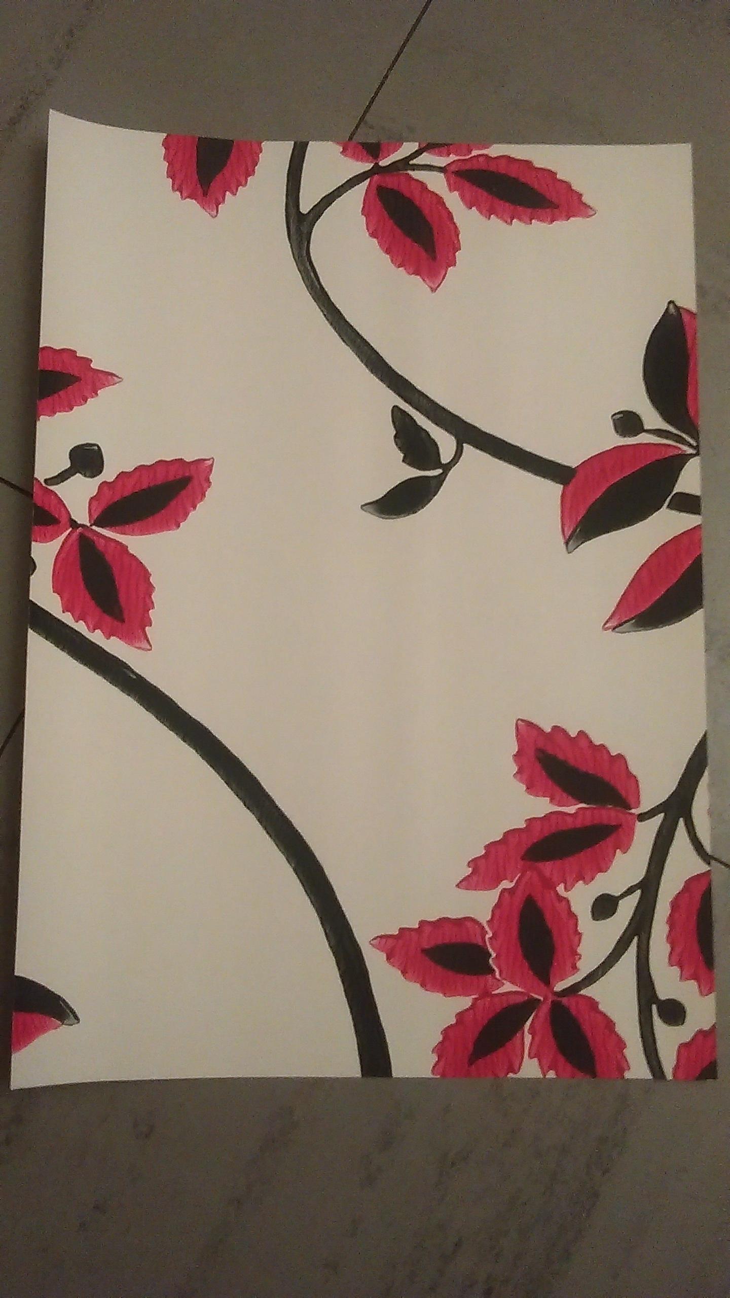 """troc de troc papier créatif """"fleurs"""". image 0"""