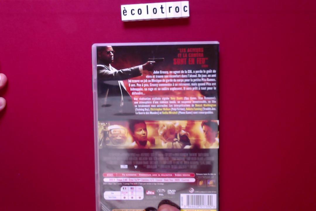 troc de troc port compris - dvd man on fire - comme neuf - sans boitier image 1