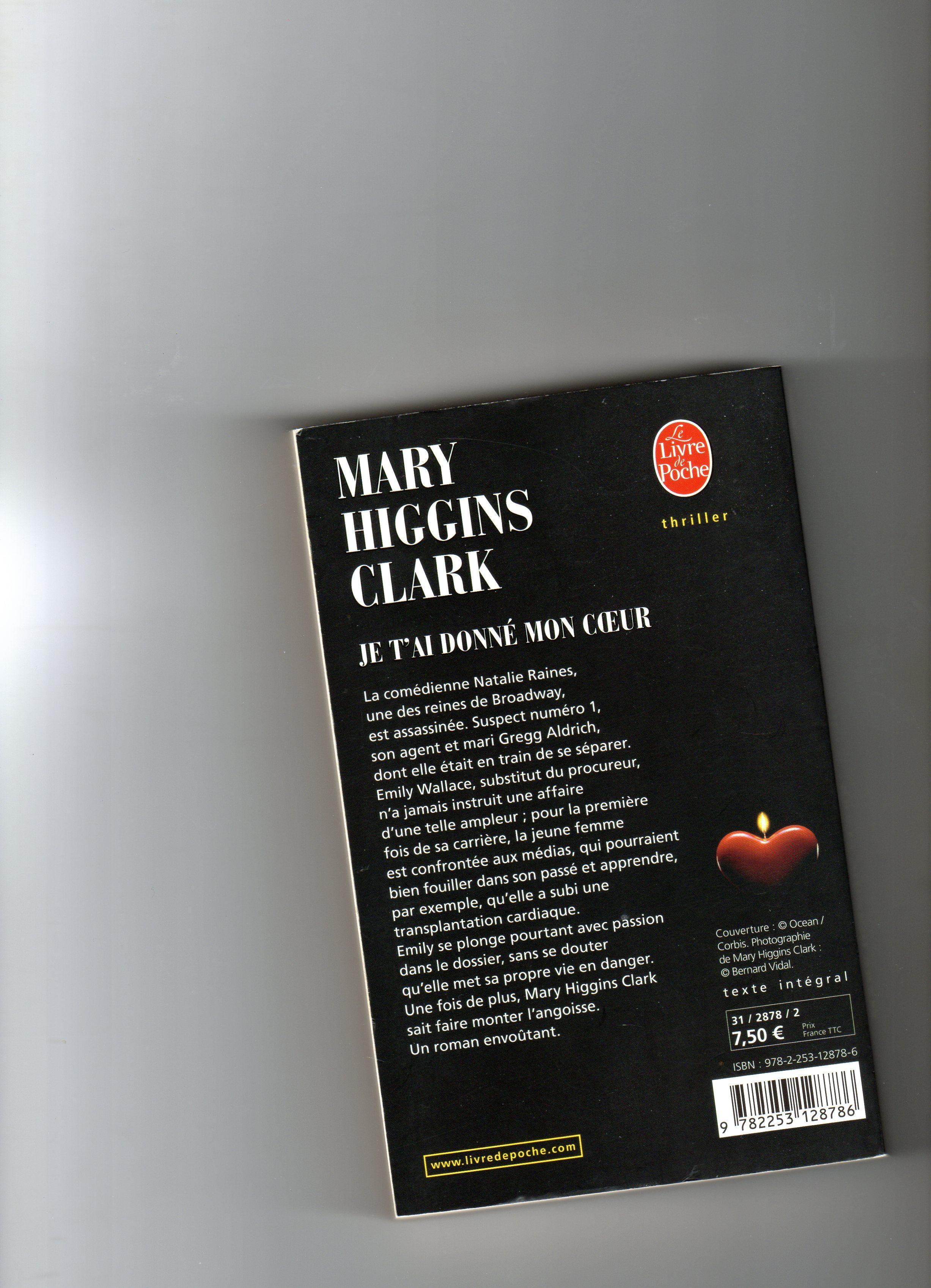 troc de troc je t ai donne mon coeur  mary higgins clark image 1