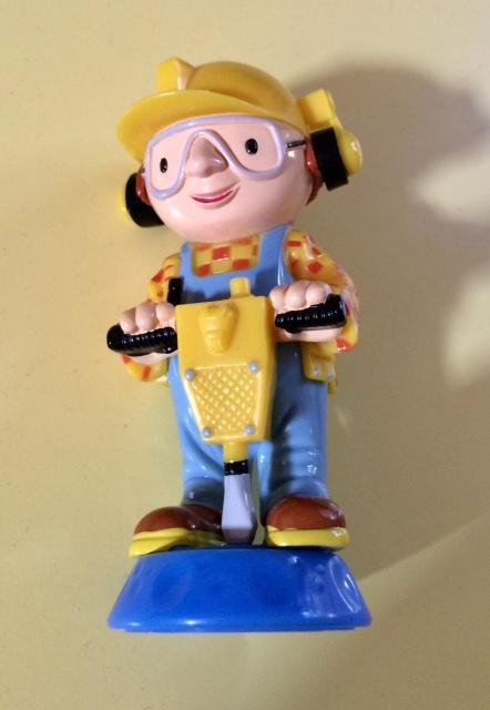 troc de troc figurine ouvrier marteau piqueur - 10 cm - très bon état image 0