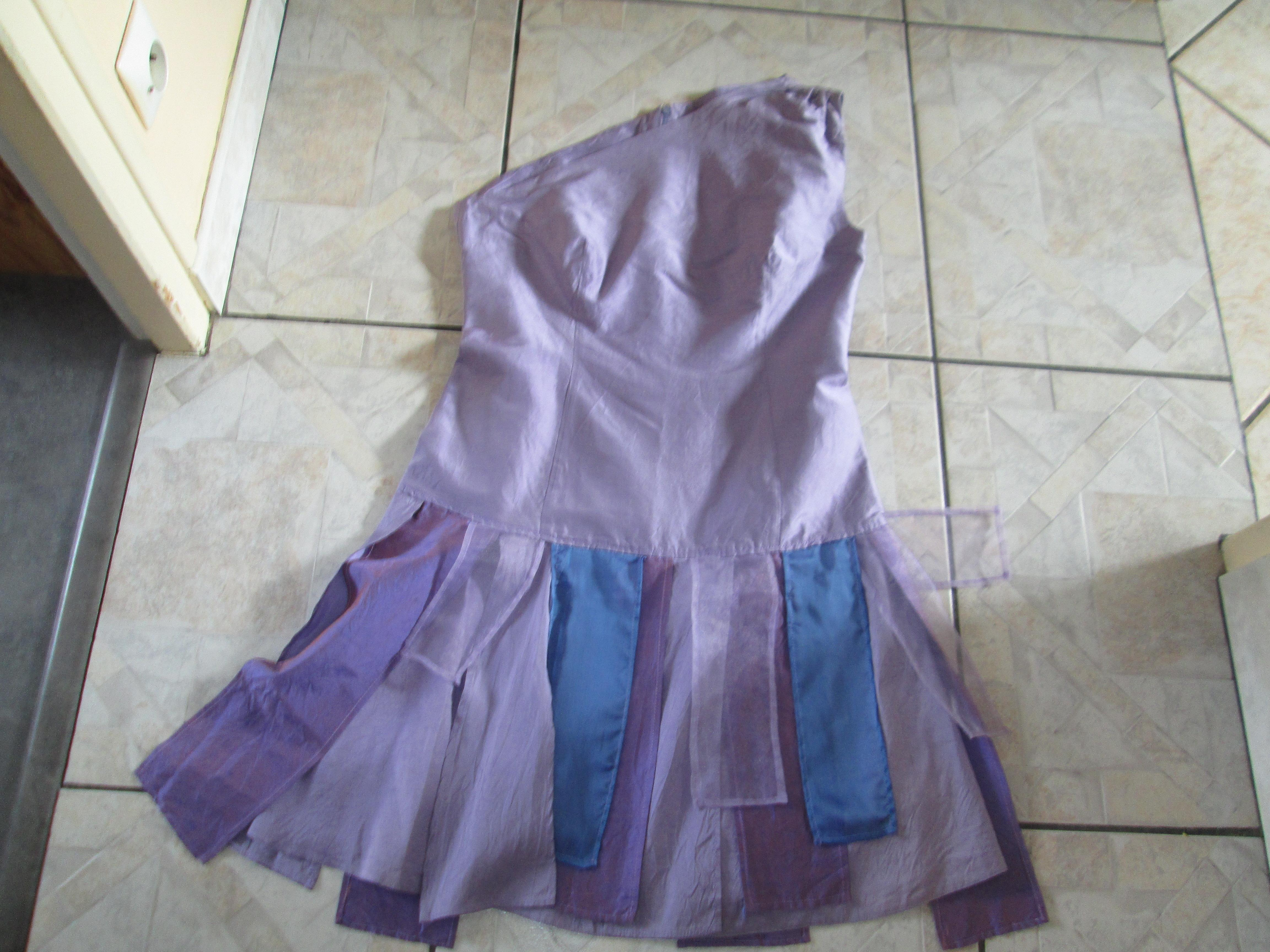 troc de troc robe en soie creation unique taille 40/42 avec son bolero image 0