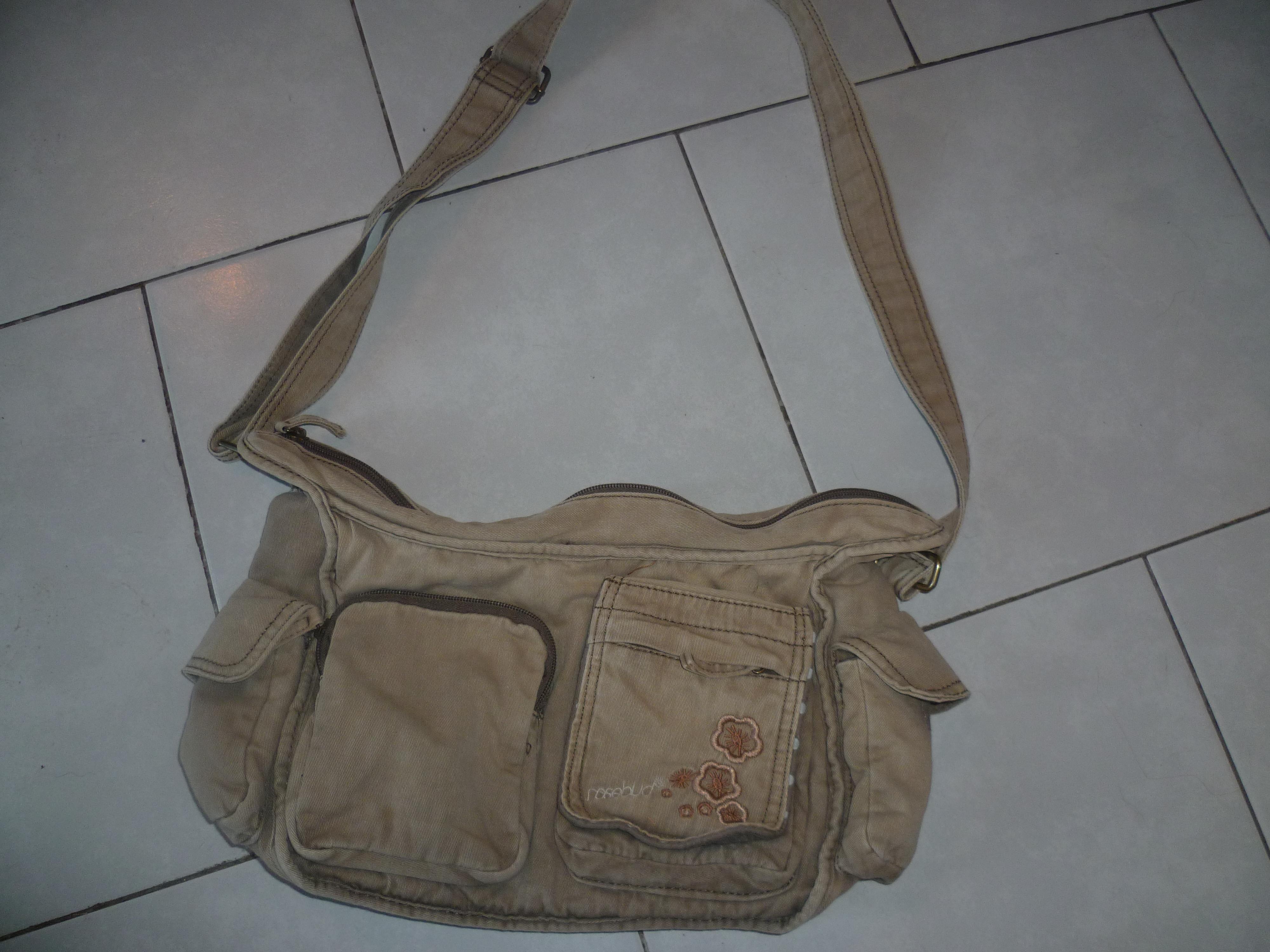 troc de troc sac à mains toile kaki image 0