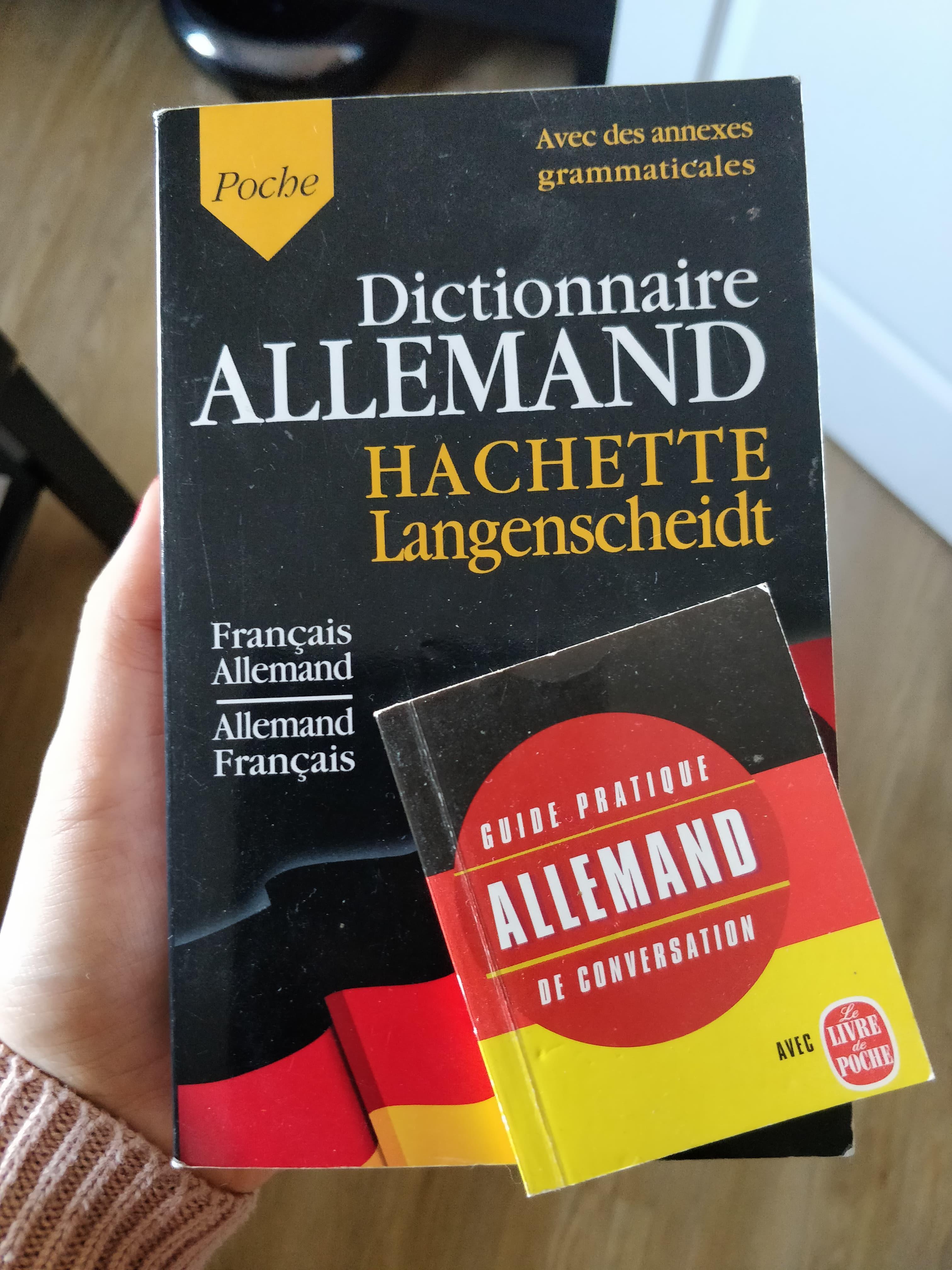 troc de troc dictionnaire + petit livre allemand/français image 0