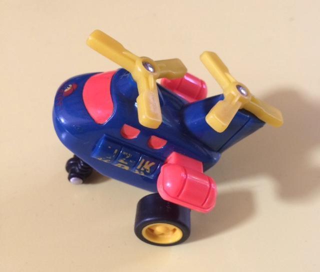 troc de troc miniature hélicoptère à friction - très bon état - 6 cm image 0