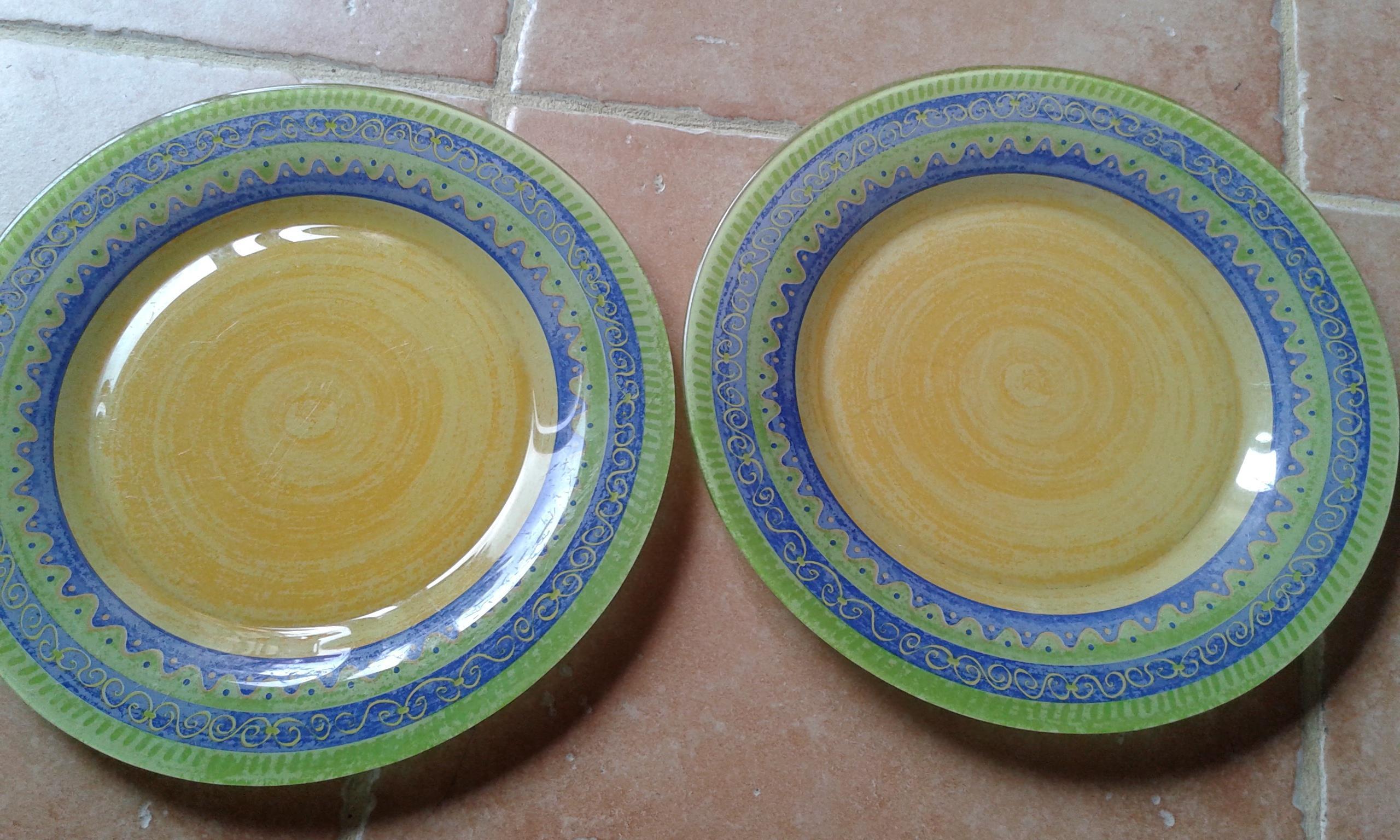 troc de troc lot de 2 assiettes arcopal image 0