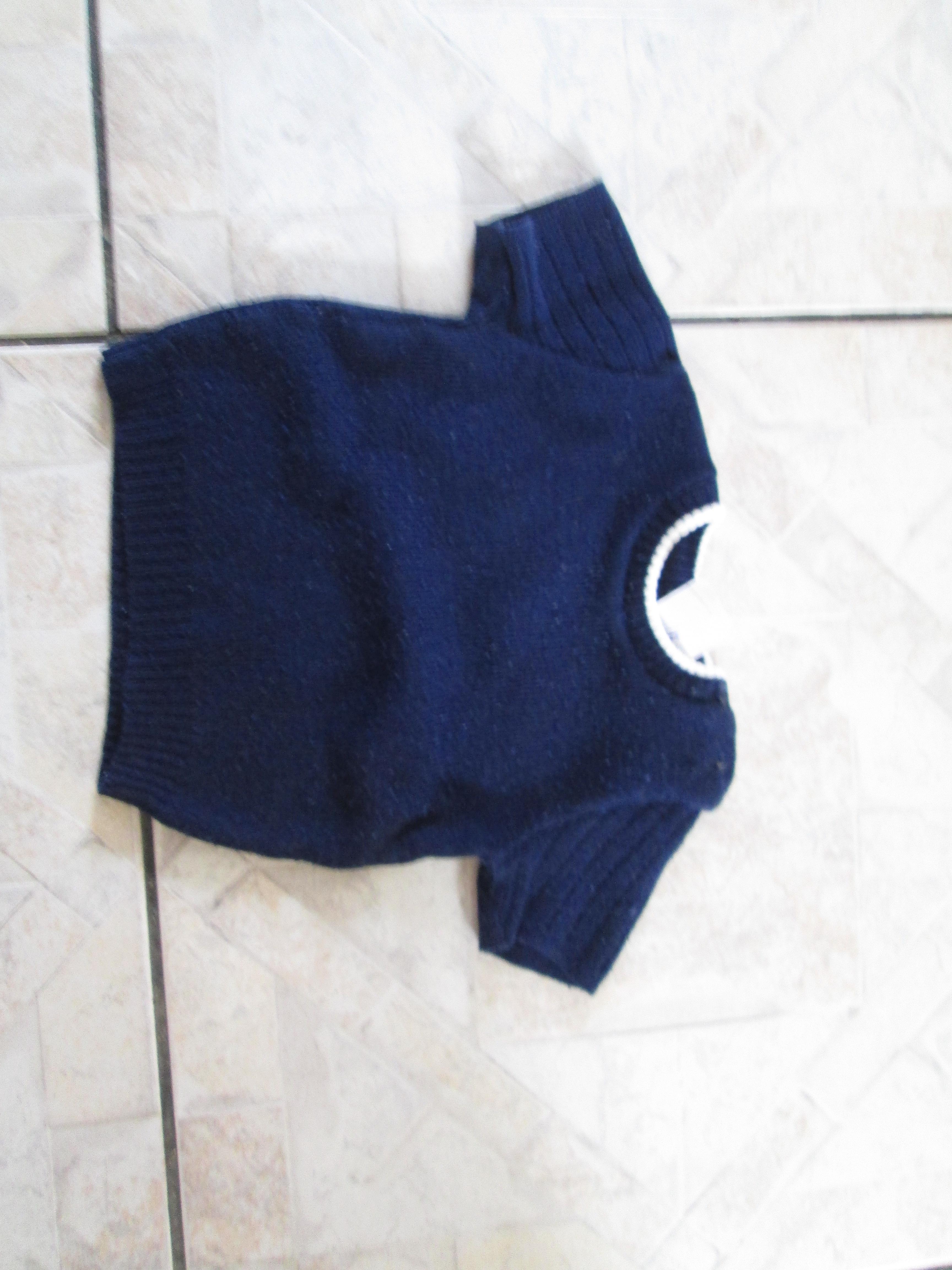troc de troc pull bleu marine 3 mois m courtes 2 noisettes image 0