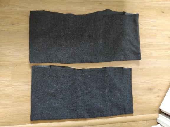 troc de troc chutes de tissu une face type tissu épais effet laine gris image 0