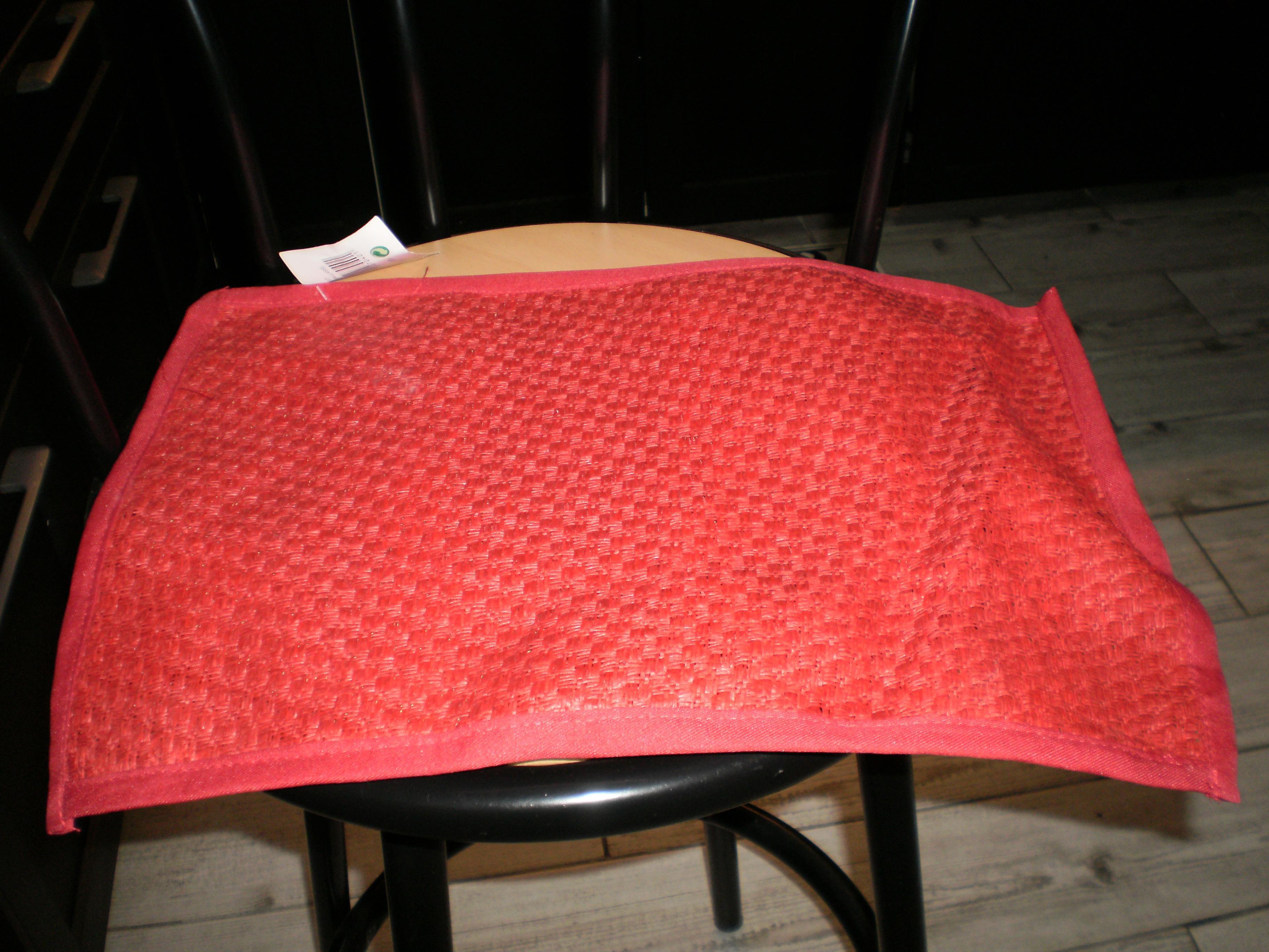troc de troc set de table nf rouge 43,5x30,5 style paille image 0