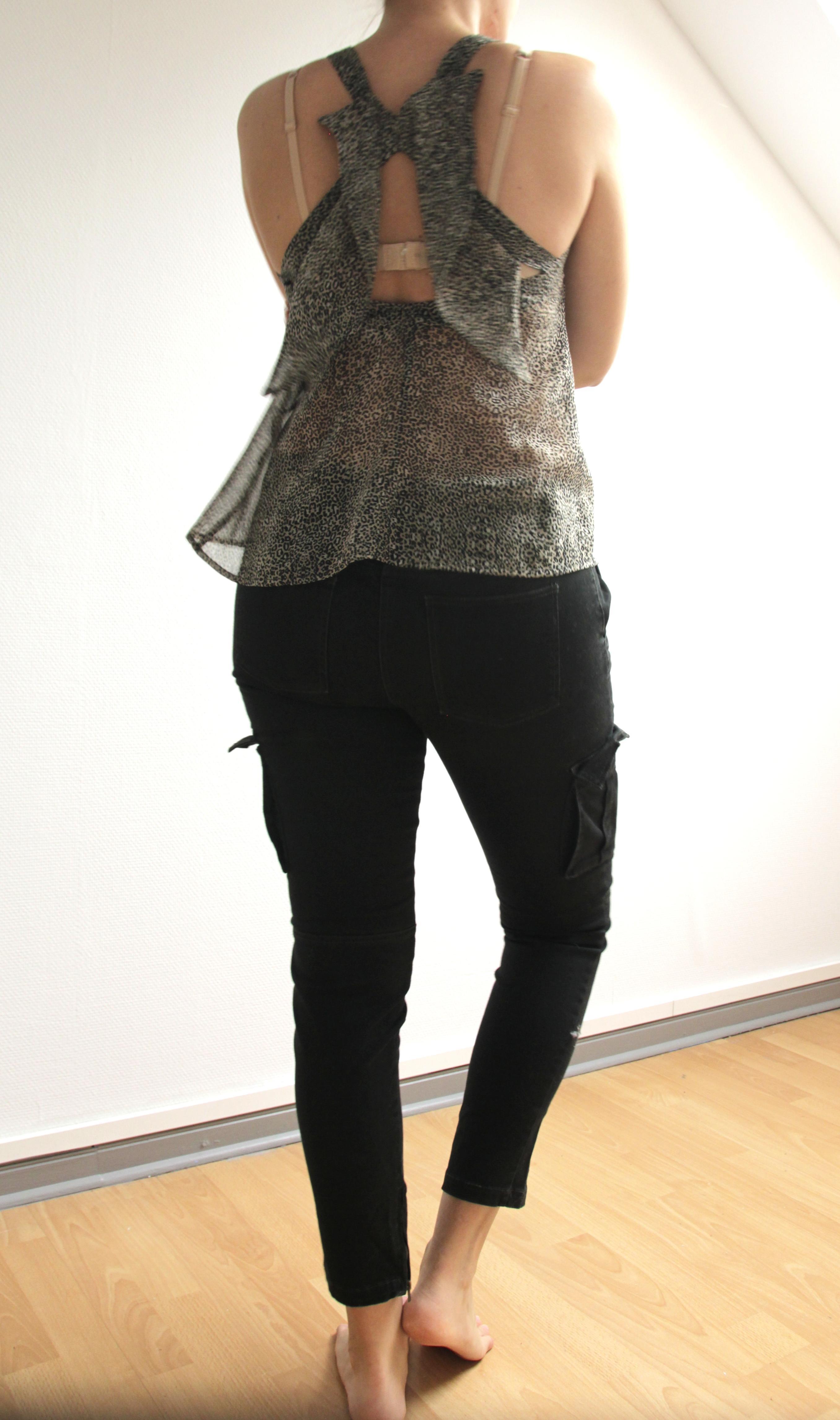 troc de troc pantalon noir 7/8 marque monoprix taille 40 image 1