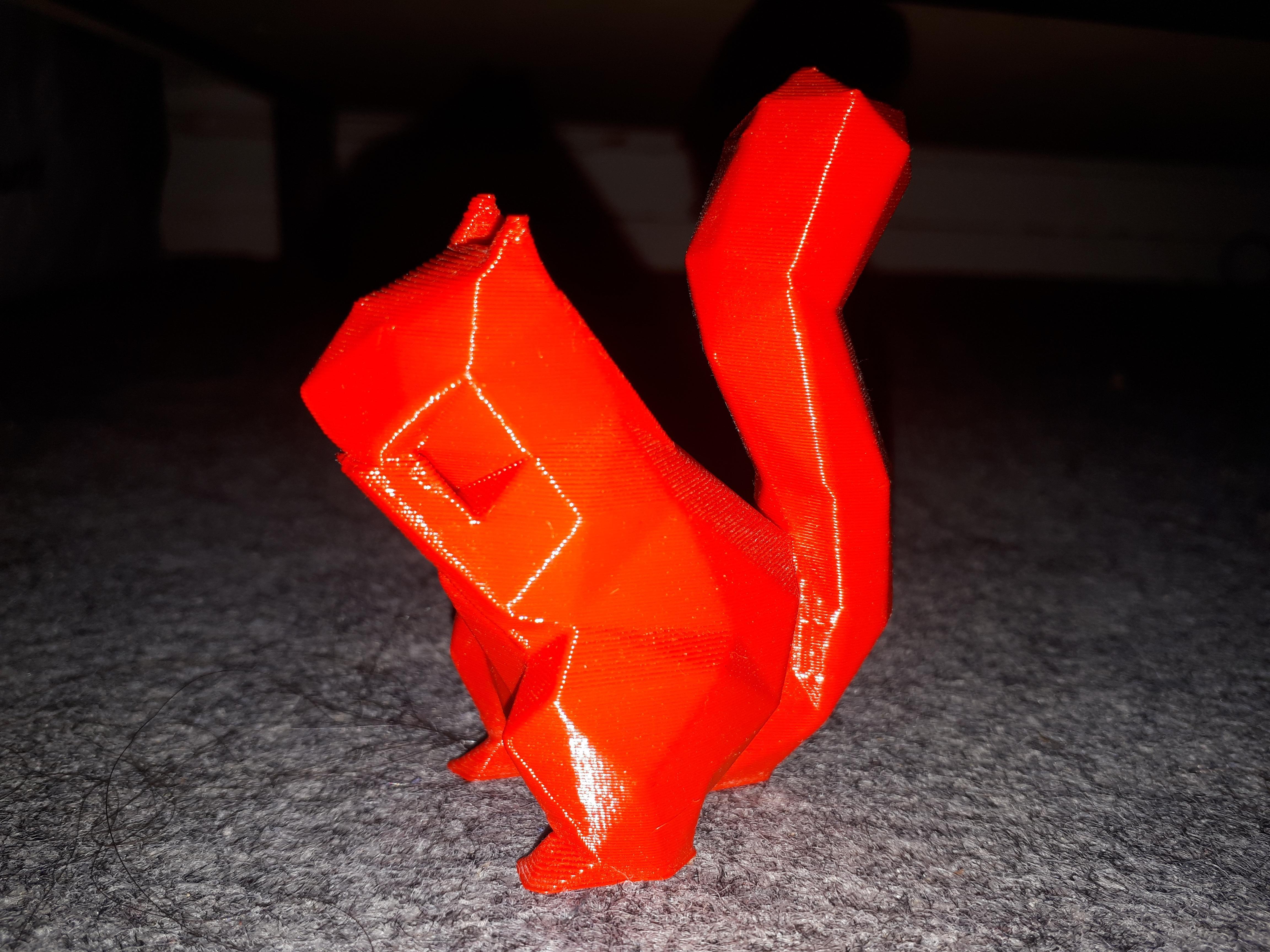 troc de troc figurine écureuil géométrique bioplastique image 0