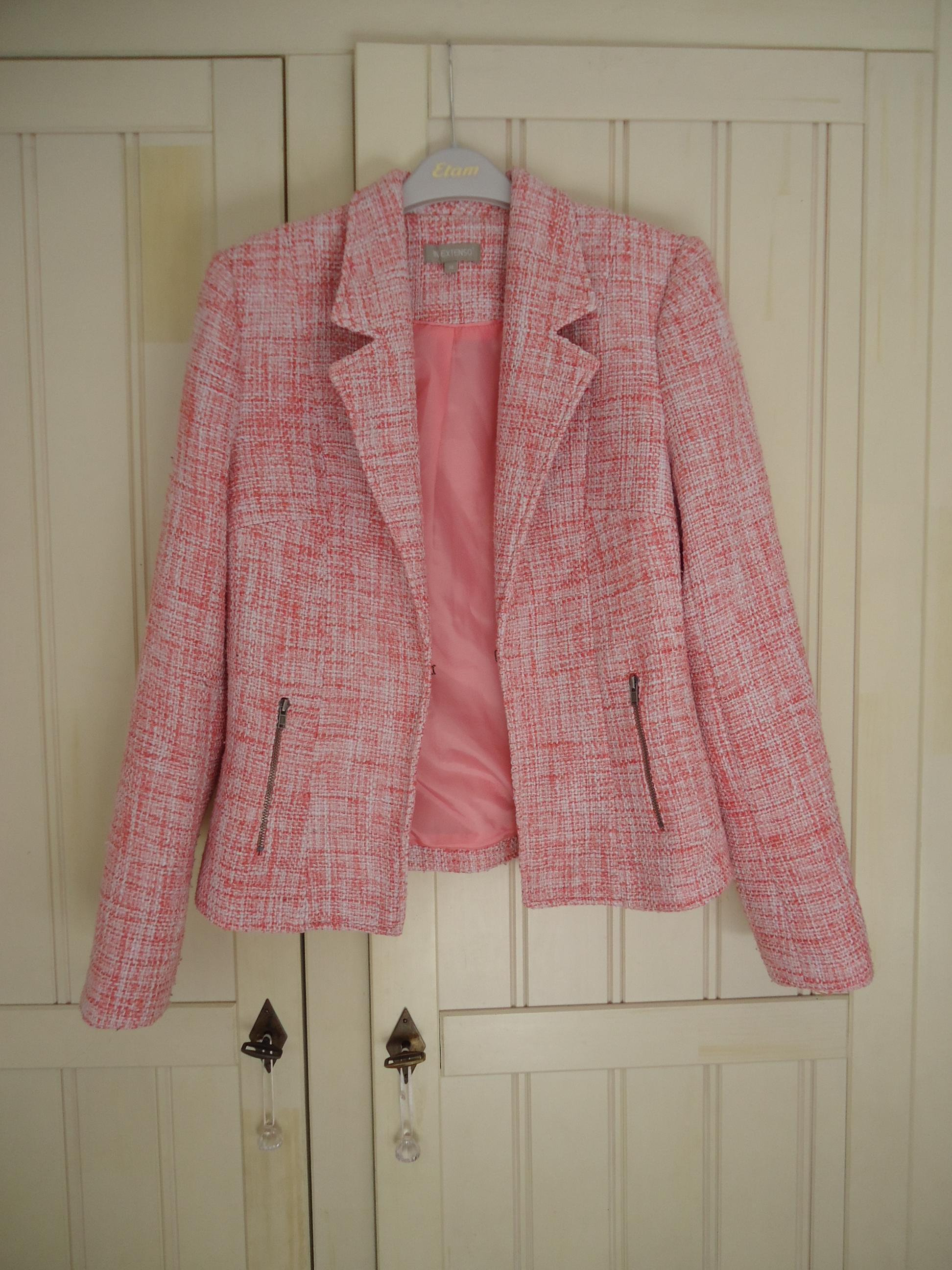 troc de troc veste tailleur rose chinée taille 38 image 0