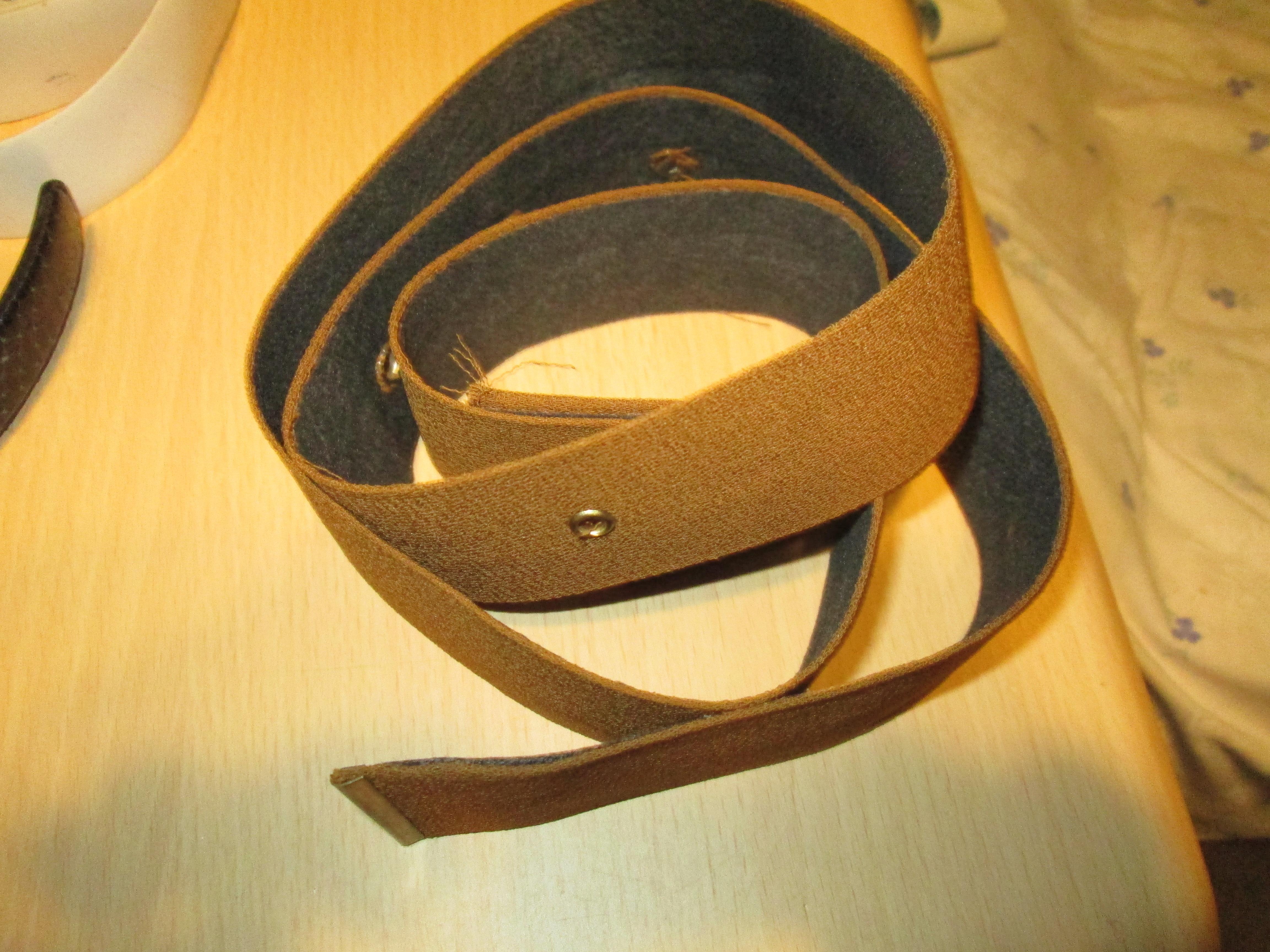troc de troc ceinture  marron ocre 110 cm  3 noisettes image 0