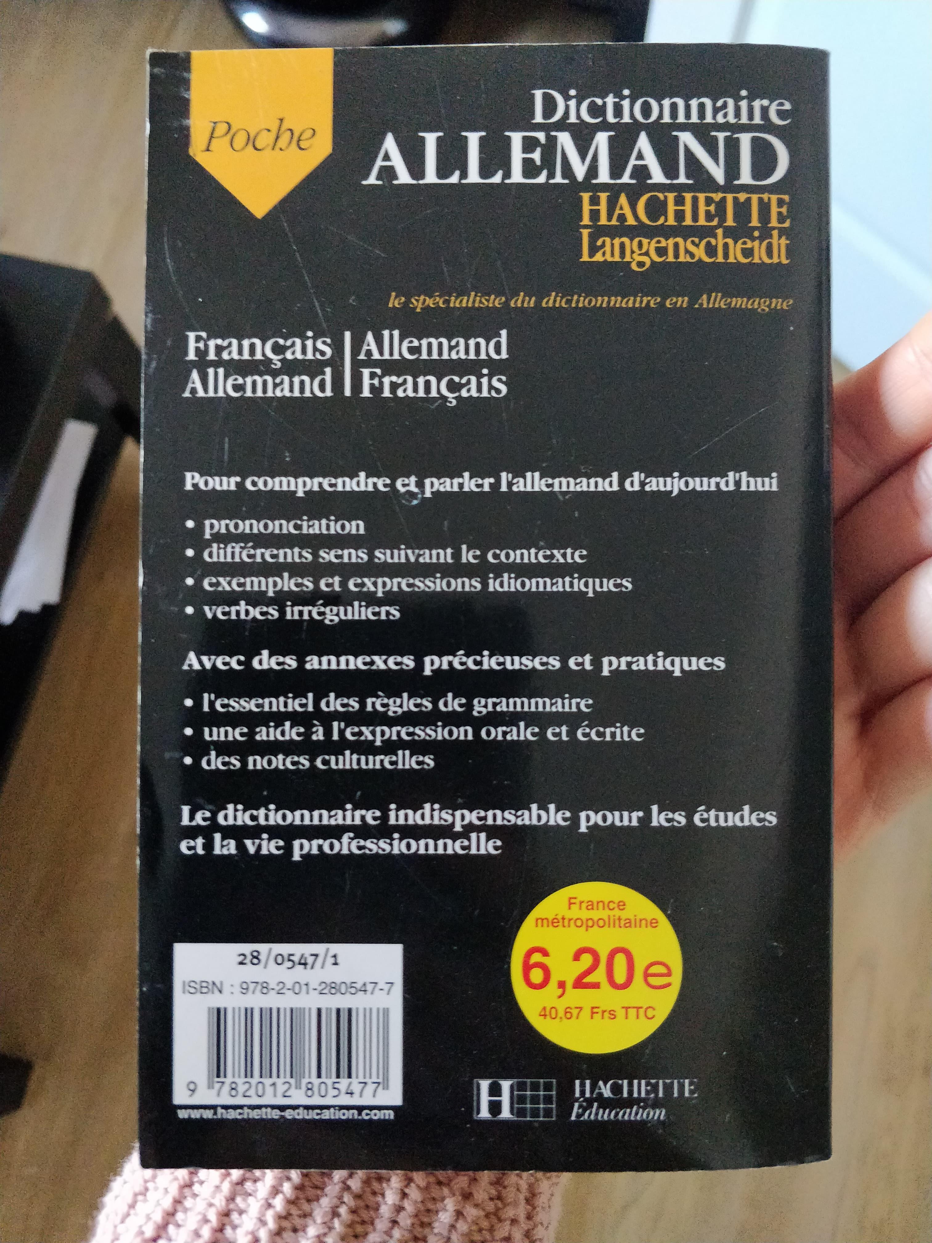 troc de troc dictionnaire + petit livre allemand/français image 1