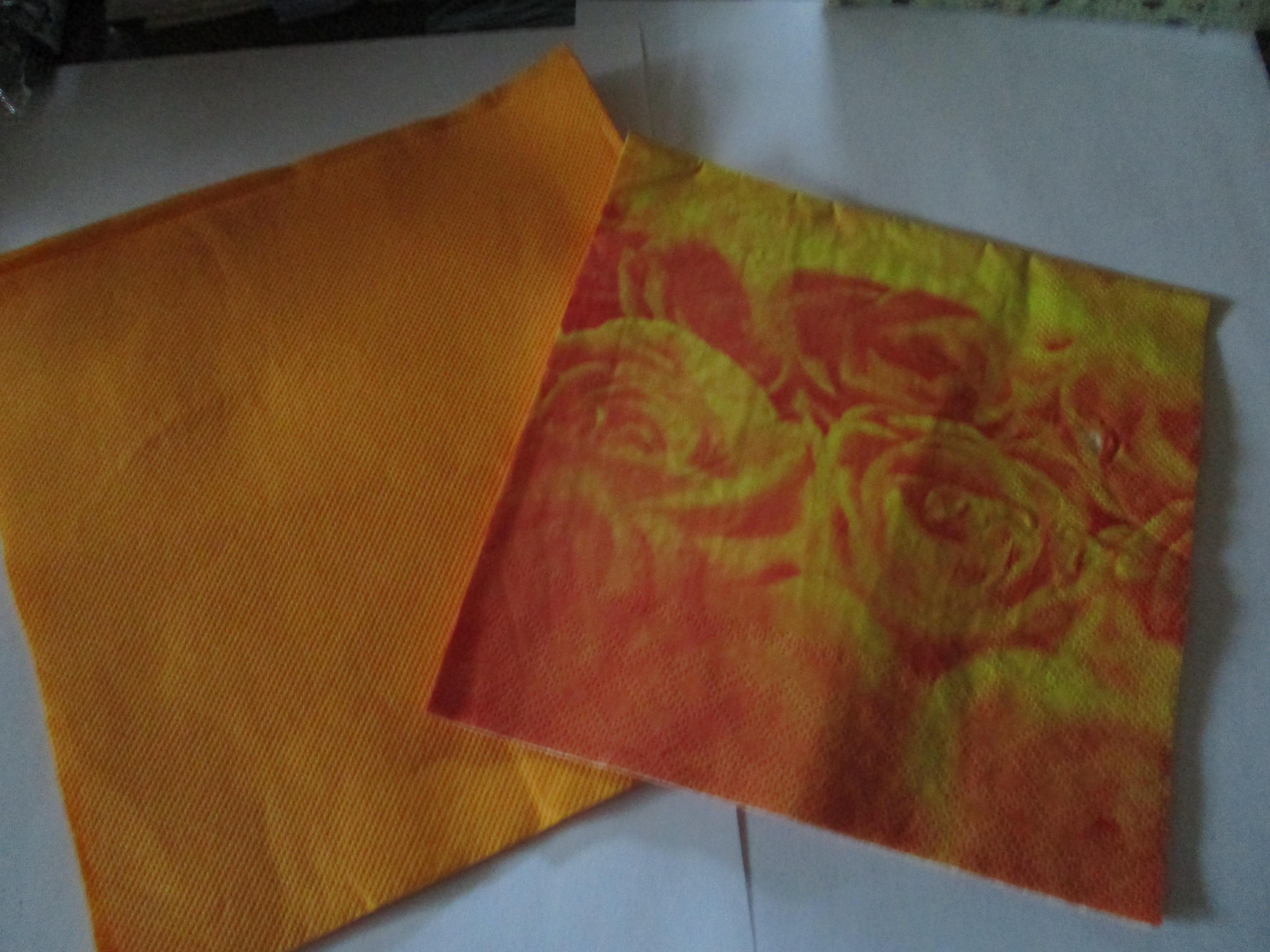troc de troc 2 serviettes orange image 0