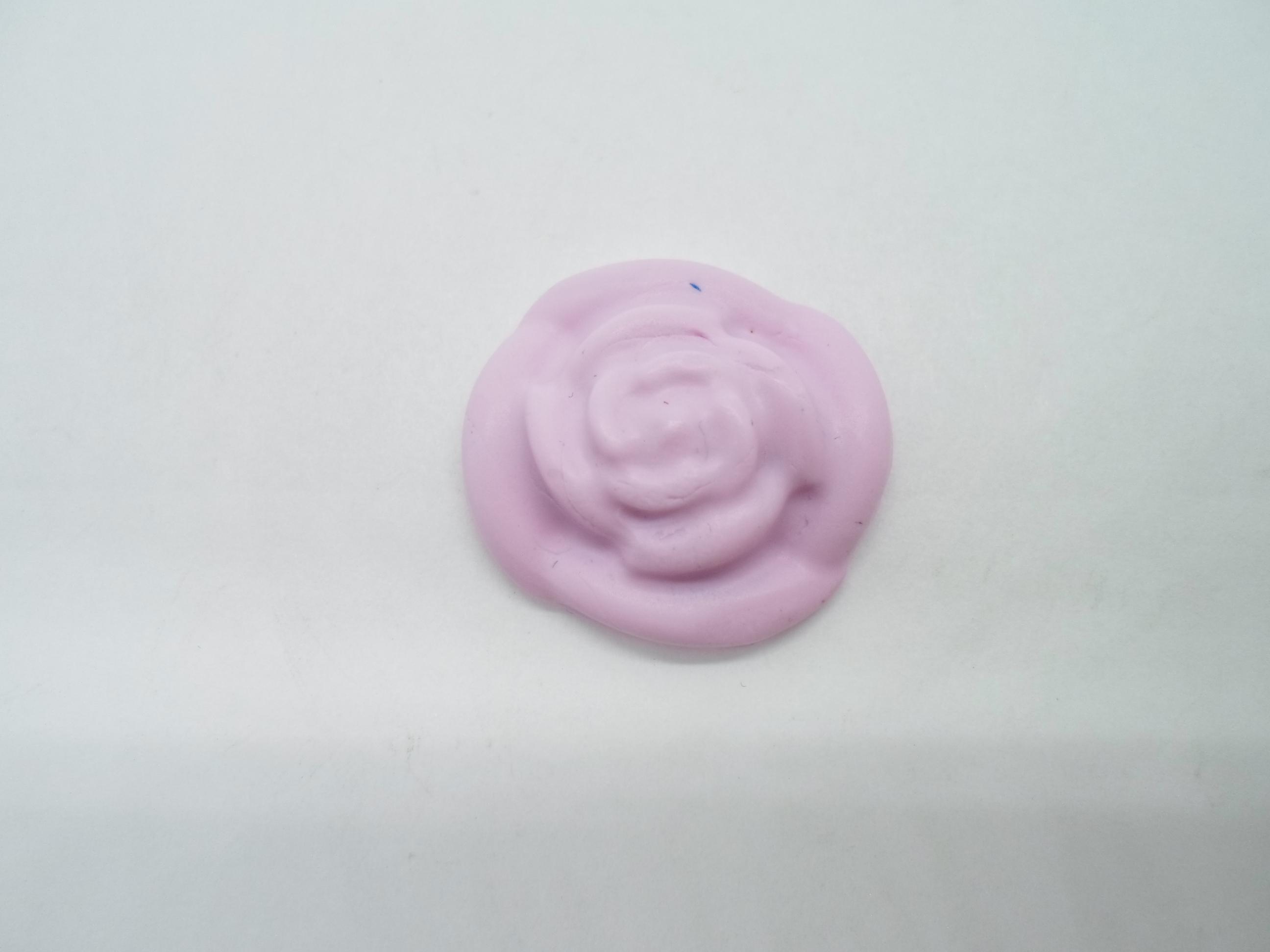 troc de troc 1 fleur en fimo taille moyenne rose image 0